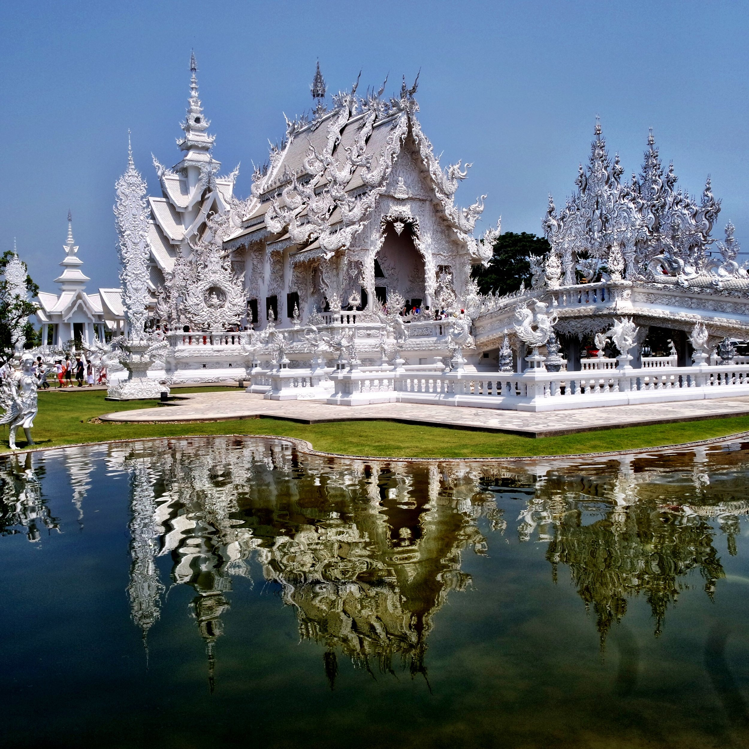 The White Temple is the most popular attraction in Chiang Rai, Thailand
