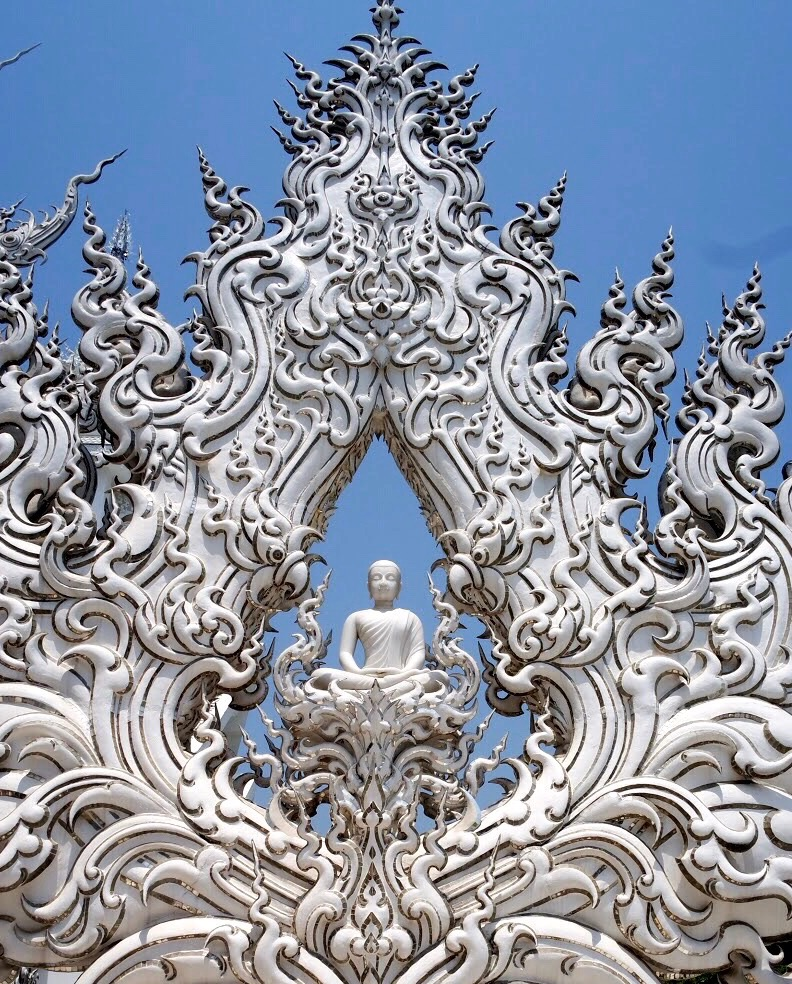 Wat Rong Khun isn't an actual temple — it's more of an elaborate art installation