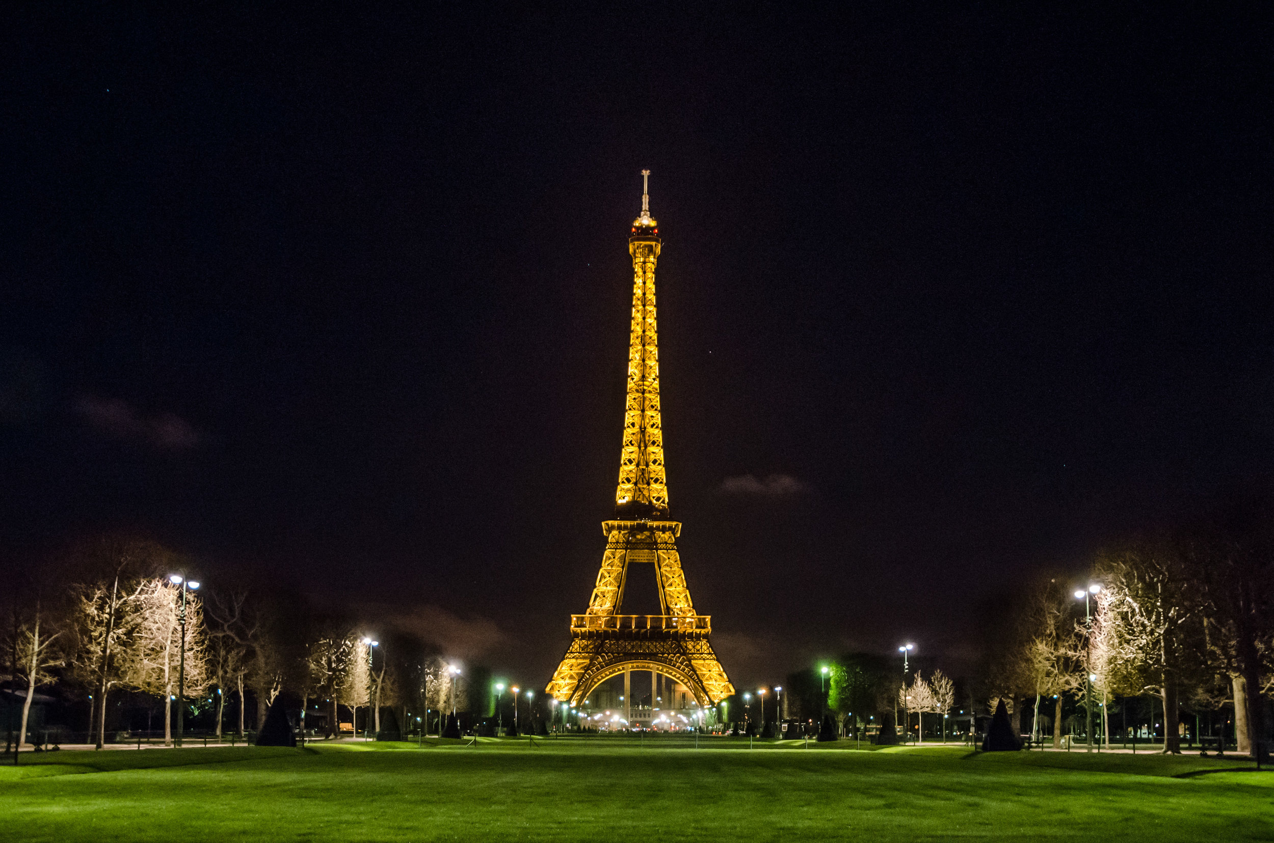 Uh oh! We didn't get France's permission to run this photo of the Eiffel Tower at night