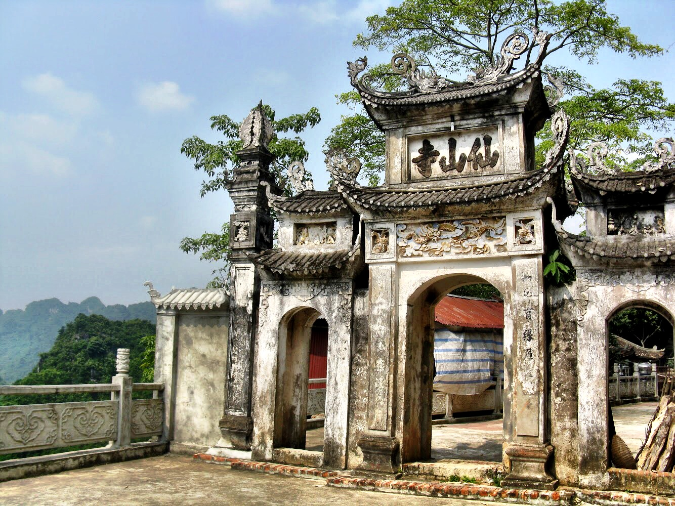 One of the gates into the temple area of the Perfume Pagoda
