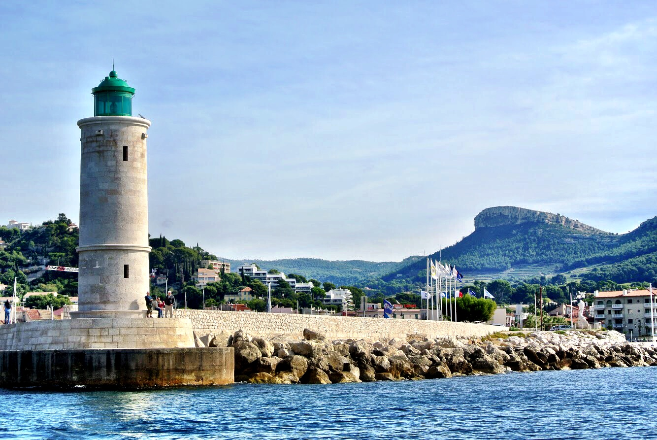 The lighthouse marks the entrance to the Port of Cassis — one of the best-kept secrets in the South of France