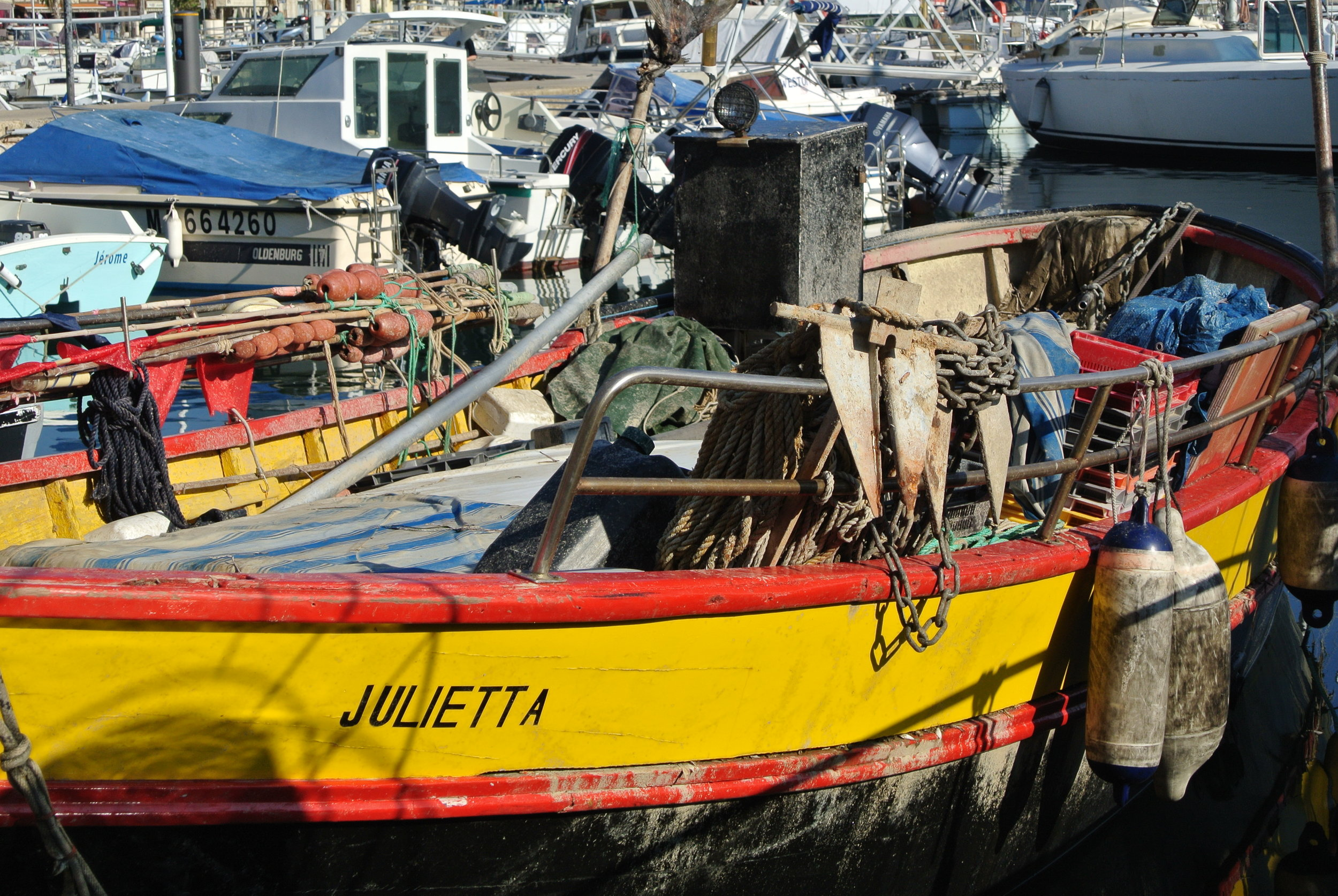 Fishing boats line the harbor at La Ciotat