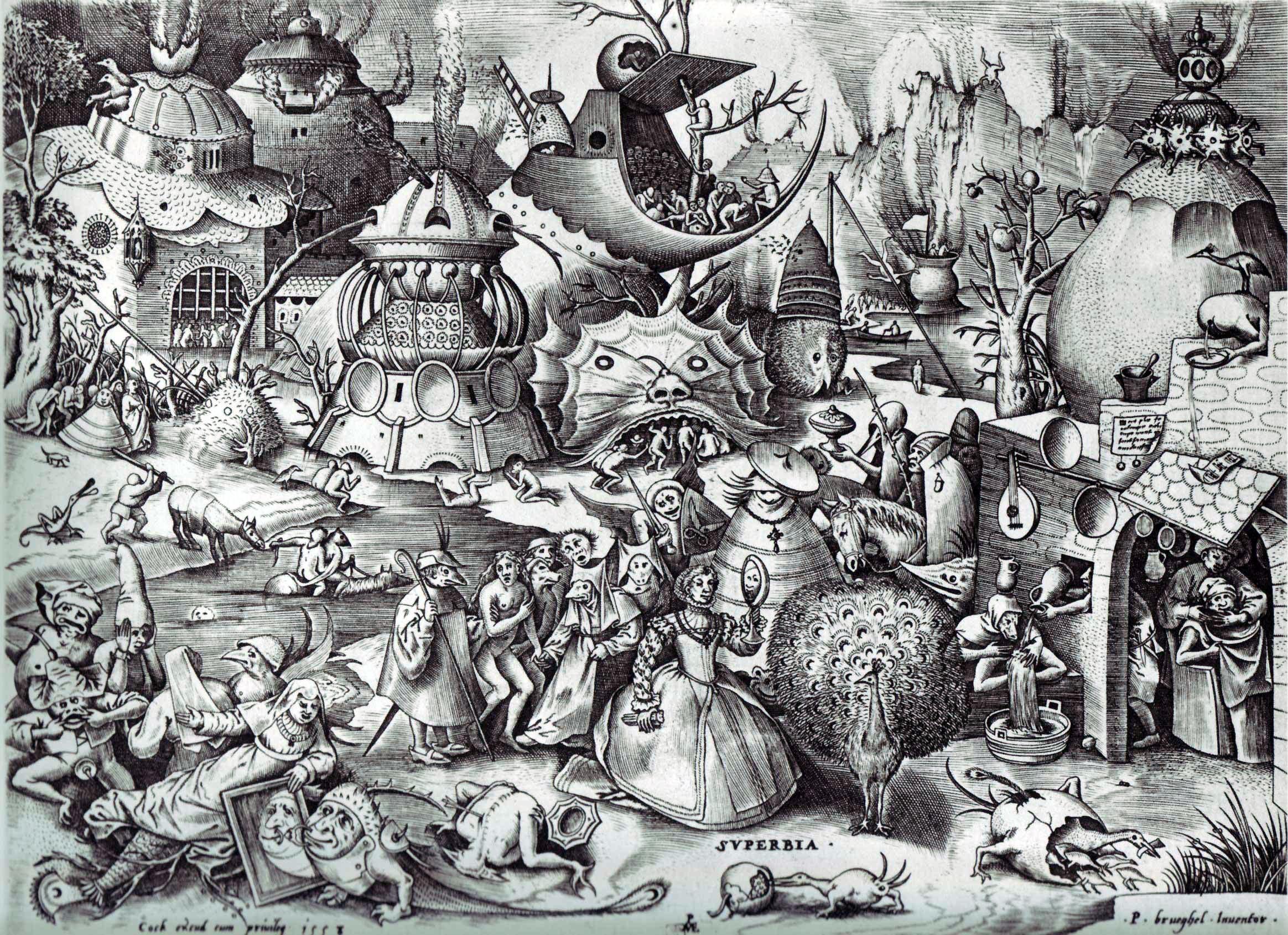 Pride  by Bruegel, 1558