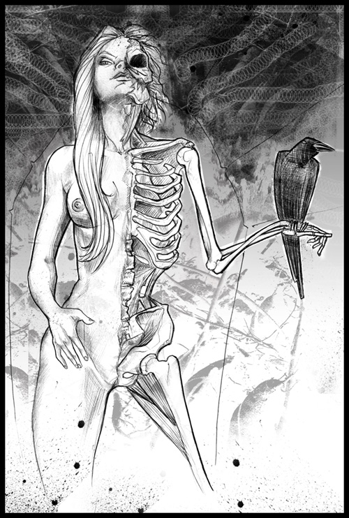 Hel is half a beautiful woman, half a rotting, skeletal corpse