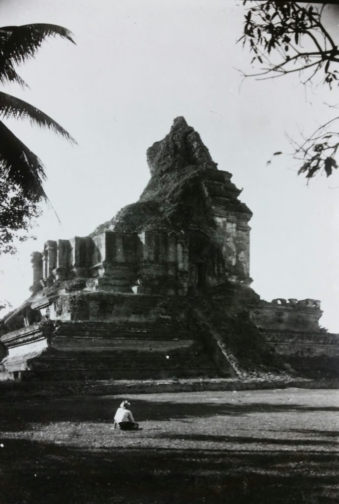 This historic photo shows what the chedi looked like prior to its restoration