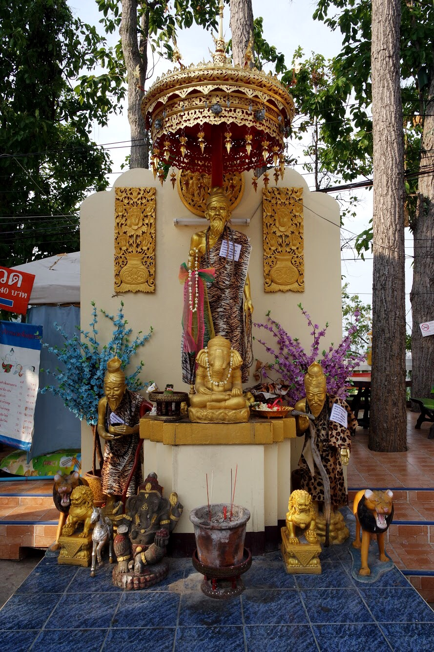 Another shrine to the Ruesi, or Hermit, at Doi Kham. You can spot him by his tiger skin cloak