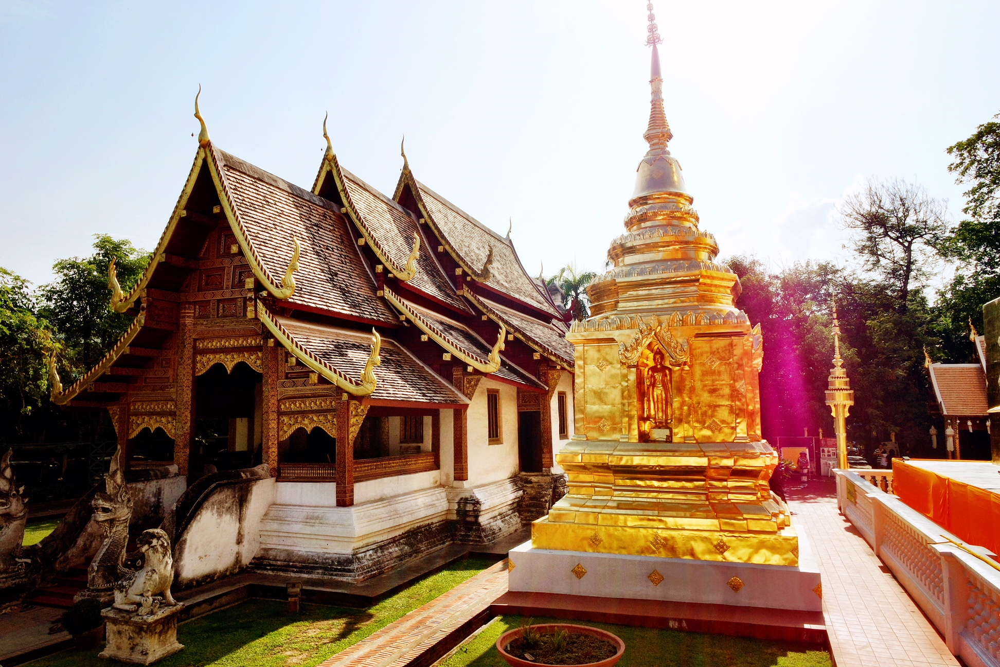 Wat Phra Singh is held up as one of the best examples of Lanna architecture