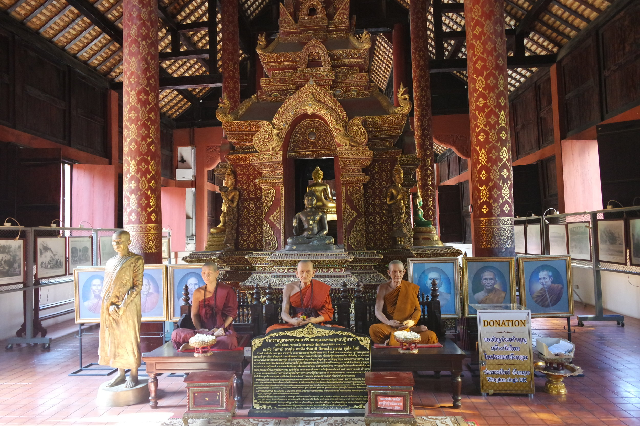 The 700 or so monks at the wat would have been ordained in the ubosot
