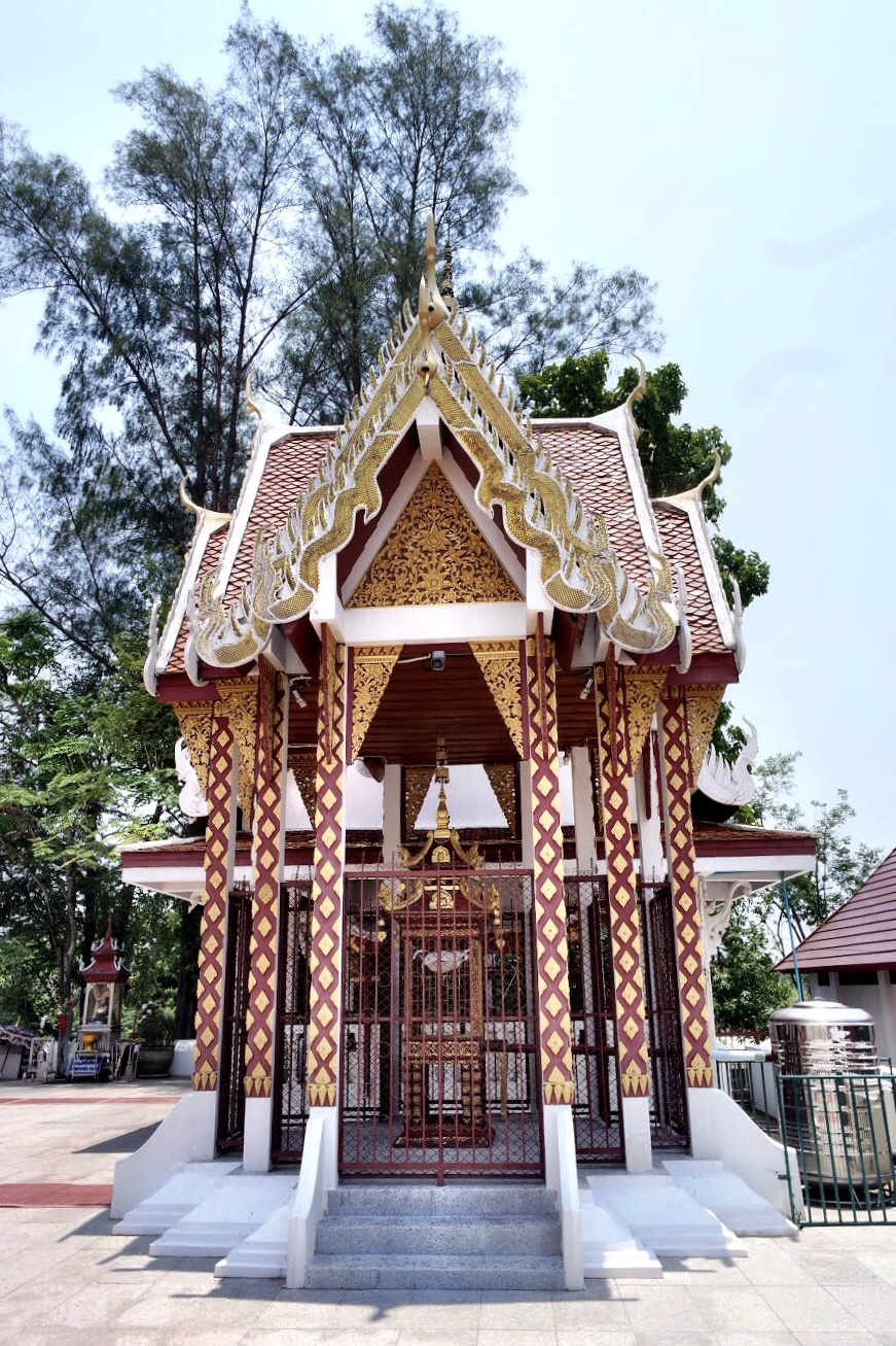 This small shrine, or mondop, is where the holy relic of Chom Thong is kept