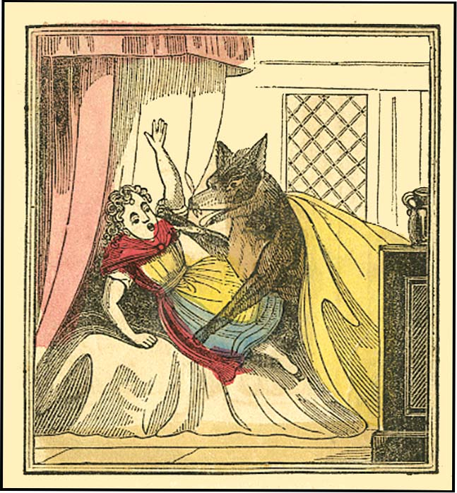 Little Red Riding Hood is given a red cloak, which shows she's been sexualized at too young an age — leaving her prey to the Big Bad Wolf, a stand-in for lustful men