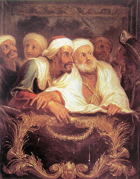 Mohammed Tenim, Ambassadeur du Maroc à la Comédie Italienne by Charles Antoine Coypel,1682