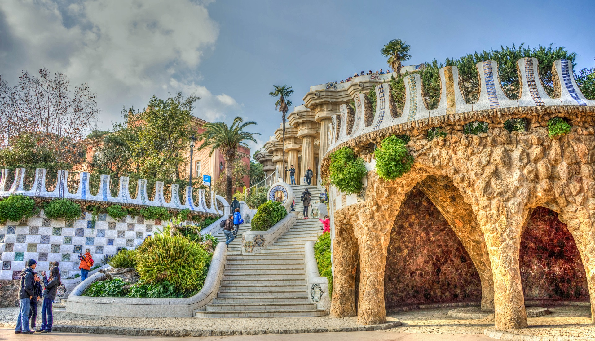 The colorful curves of Park Güell are like something out of a Dr. Seuss book