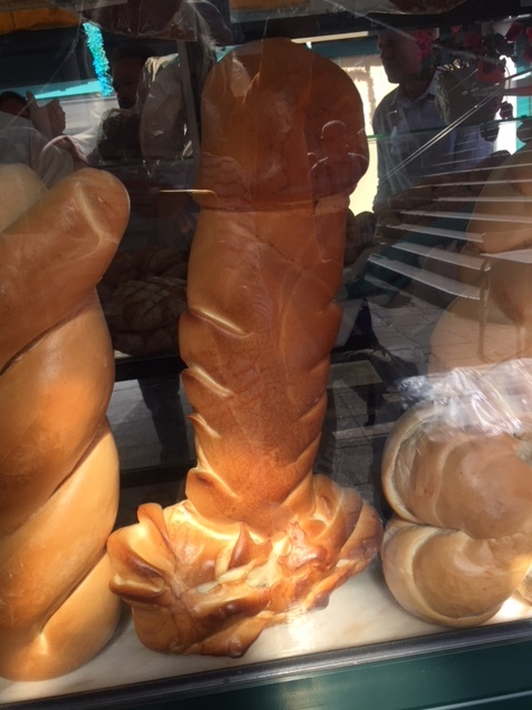 Phallic baked goods are a common sight in Portugal, especially the town of Amarante