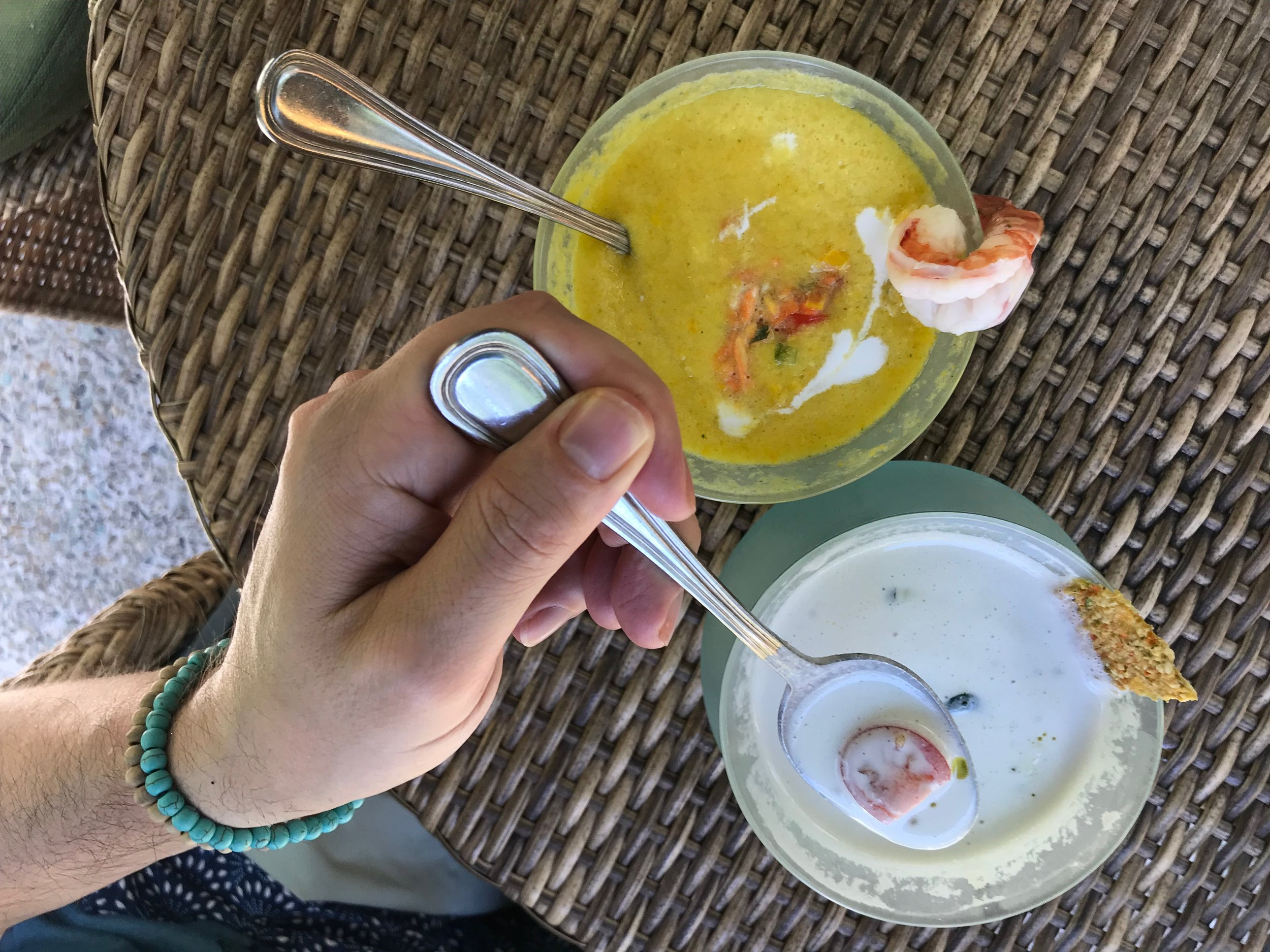 Duke and Wally became obsessed with cold soups in Ubud — they're refreshing and can be found on many menus in town