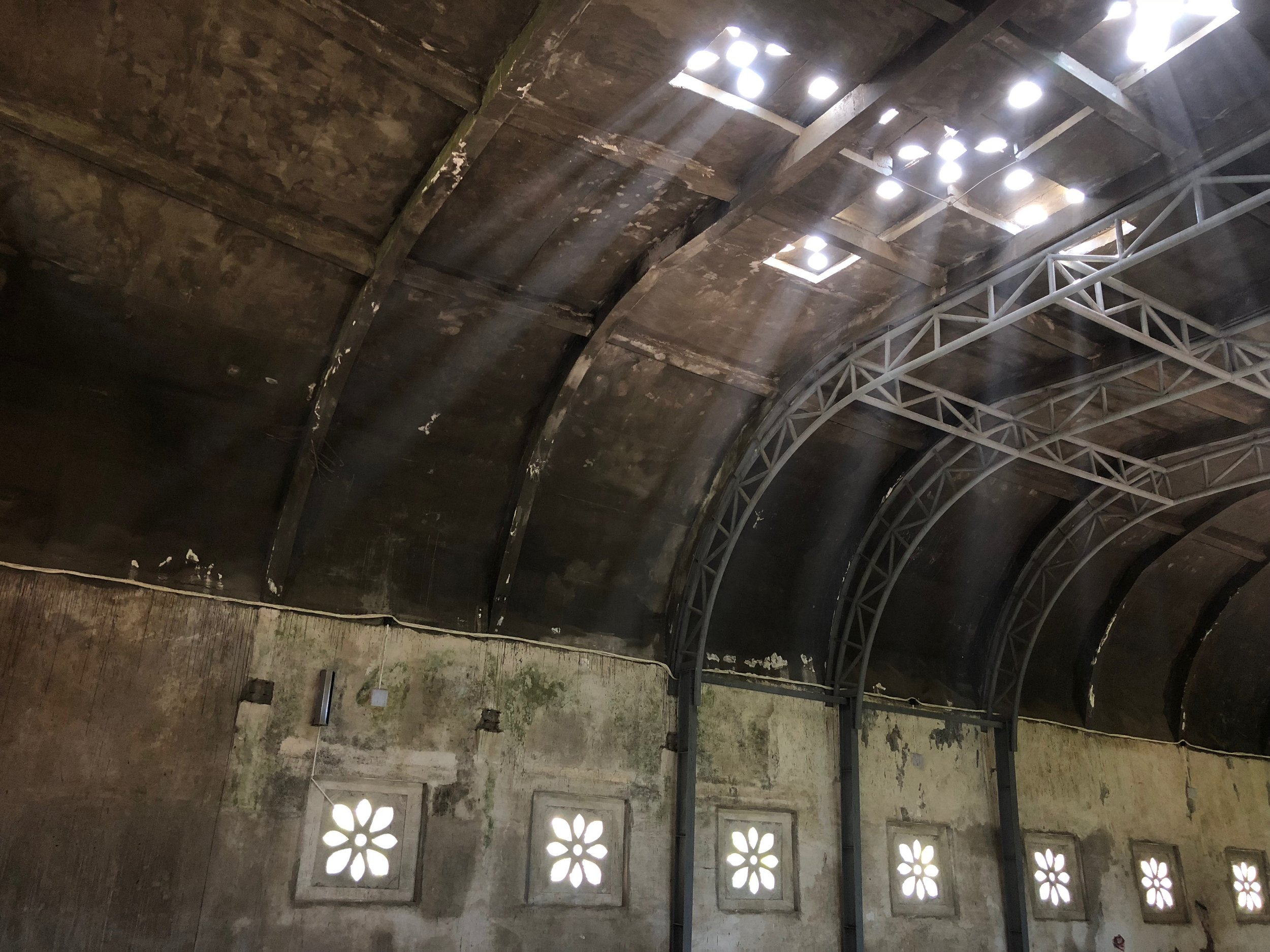 Heavenly rays of light illuminate the decaying interior