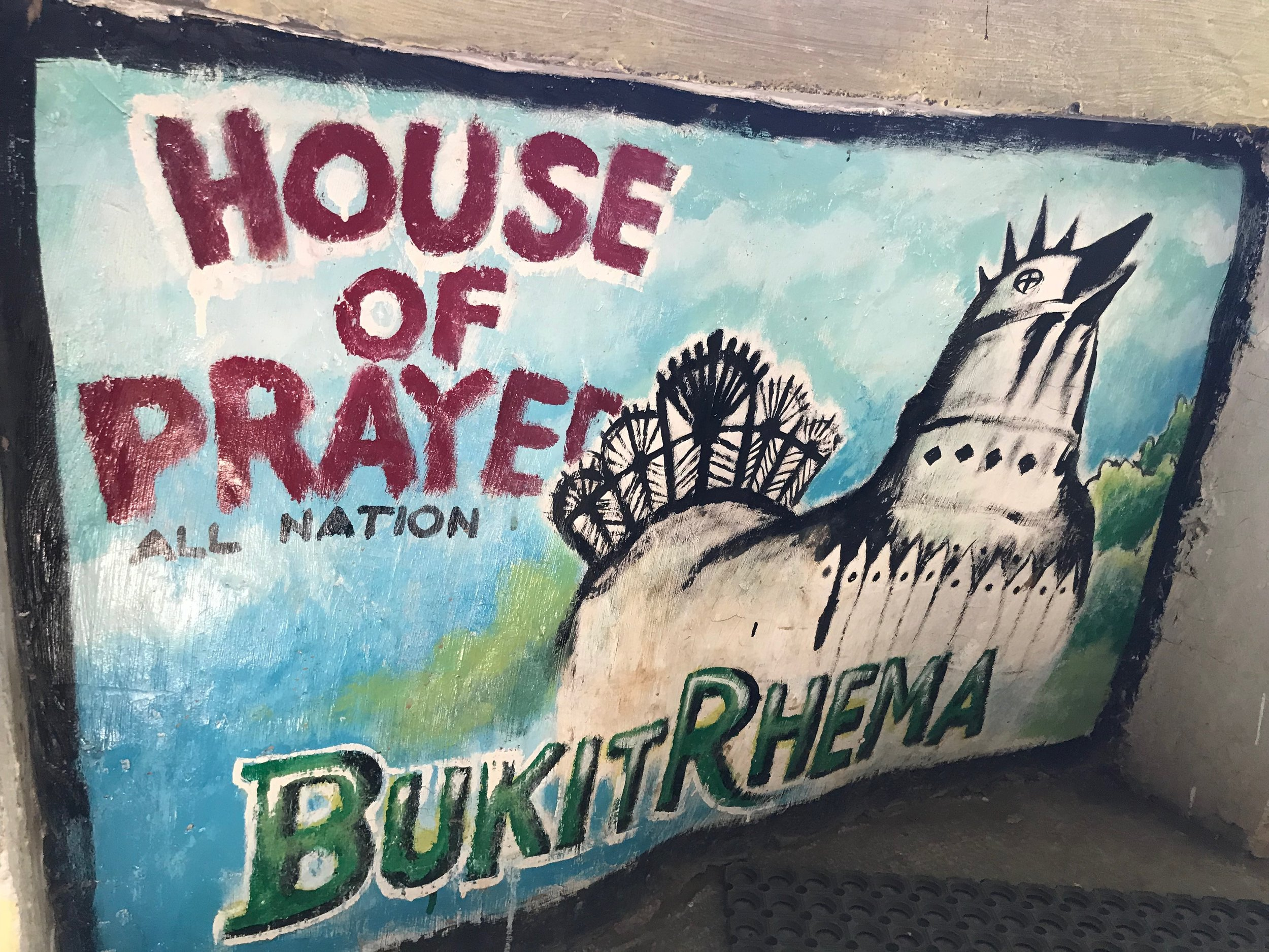 The Bukit Rhema was supposed to actually resemble a dove, the symbol of peace