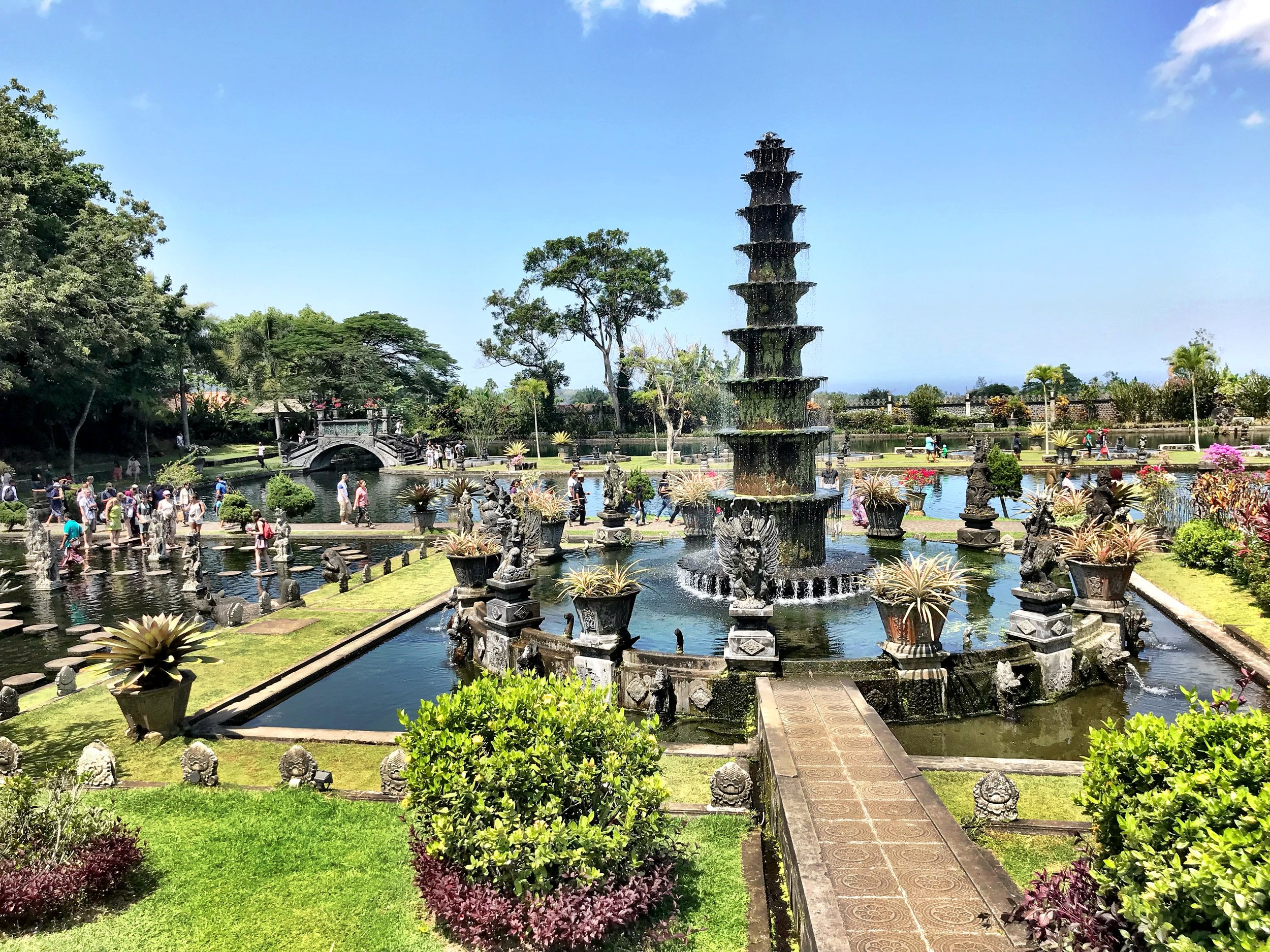 The last raja of Karangasem built these gorgeous gardens