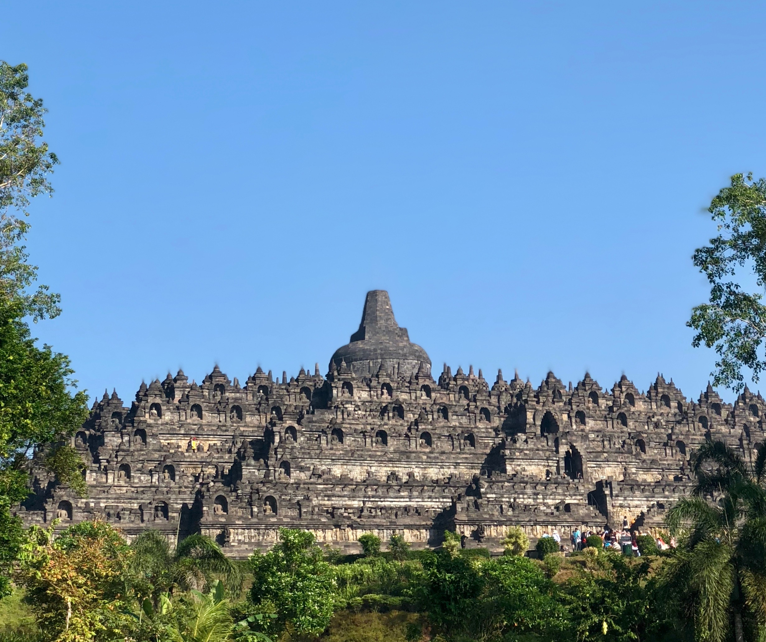 Seeing Borobudur from a distance doesn't do justice to its grandeur. It's an entirely different temple up close