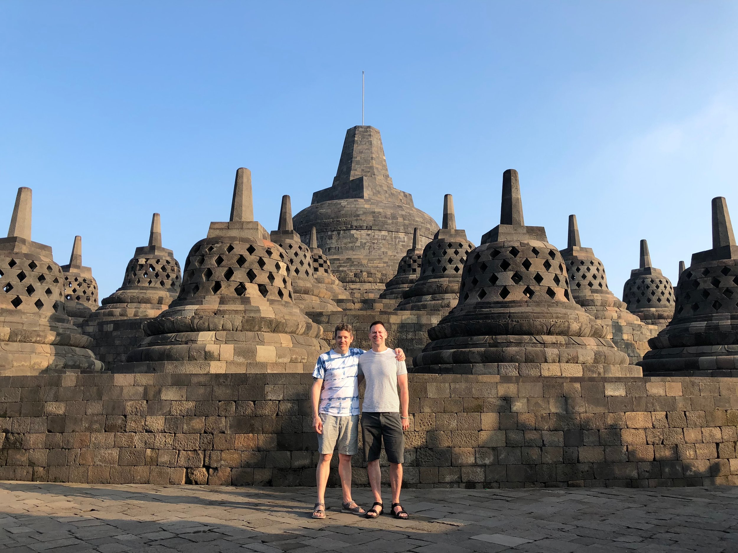 Wally and Duke love a good temple — and Borobudur is like no other