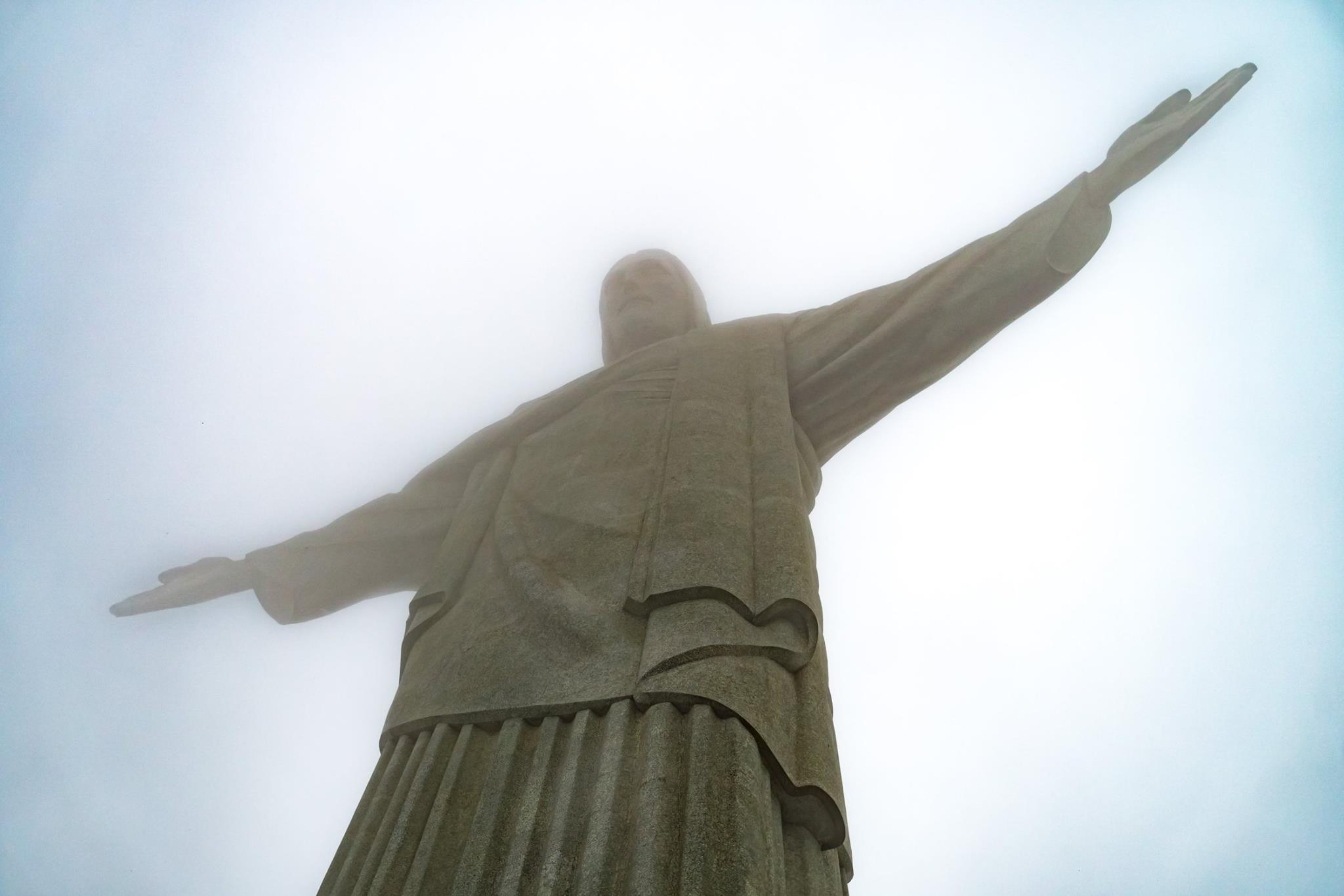 Christ the Redeemer towers above Rio. Sometimes he looks like he's in Heaven