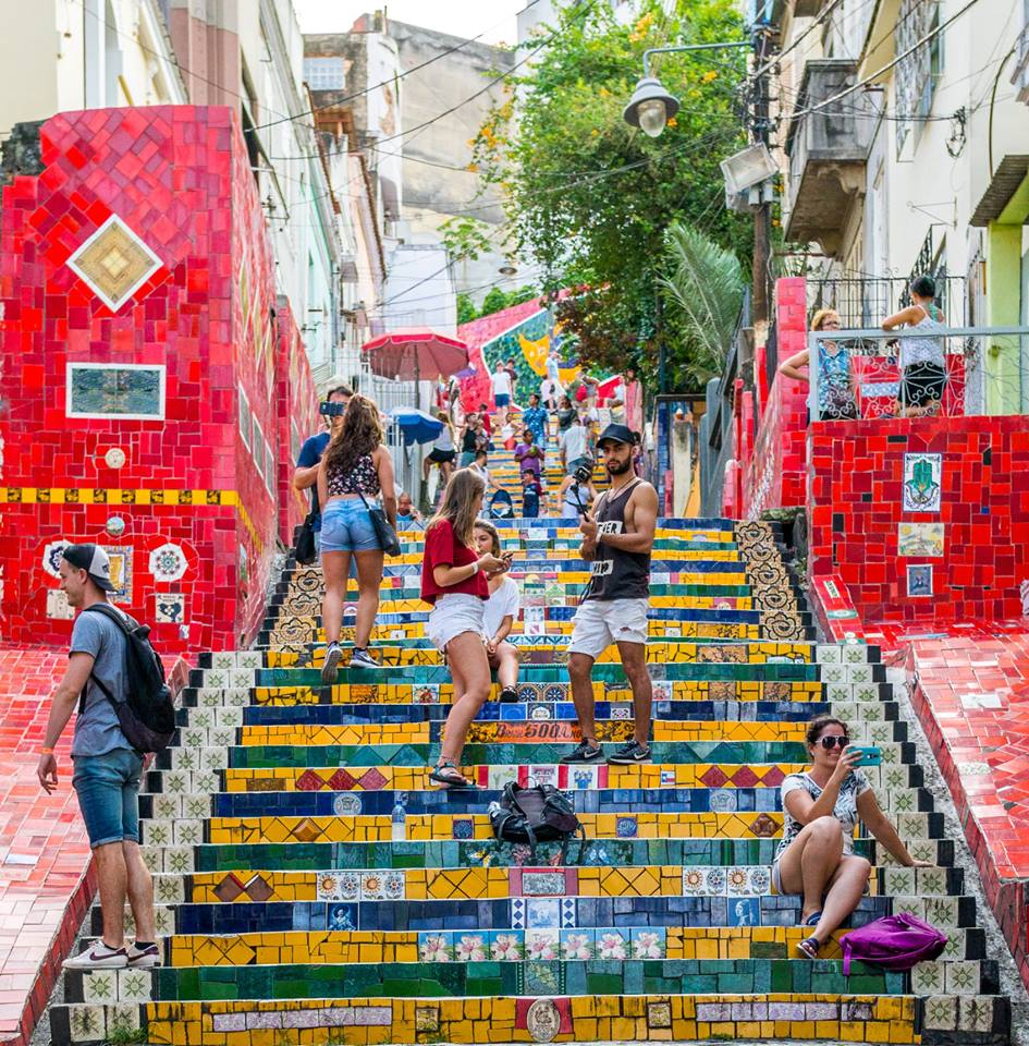 The Selaron Steps in Rio de Janeiro, where Michael Jackson danced in a music video