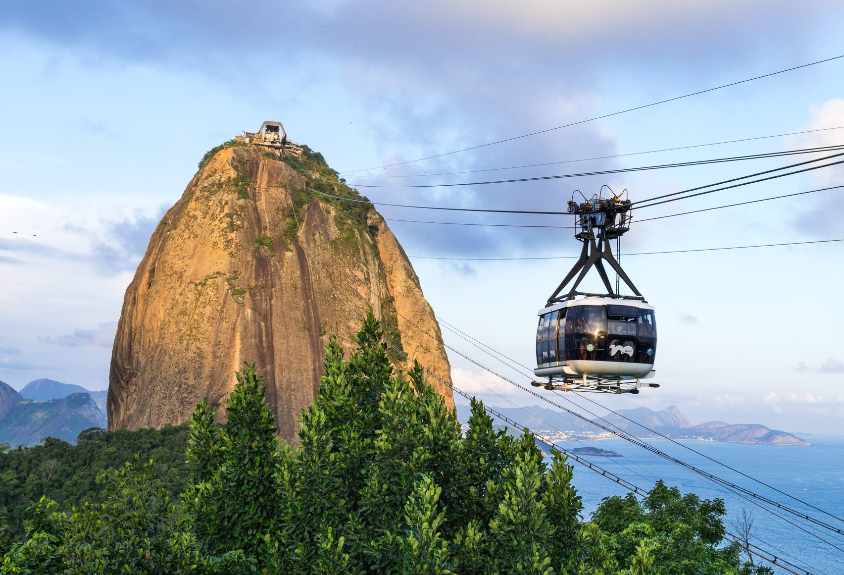 Take a sky tram up to the top of Sugarloaf Mountain. Helicopter tours are available from here, from which you can see gorgeous views of the entire city