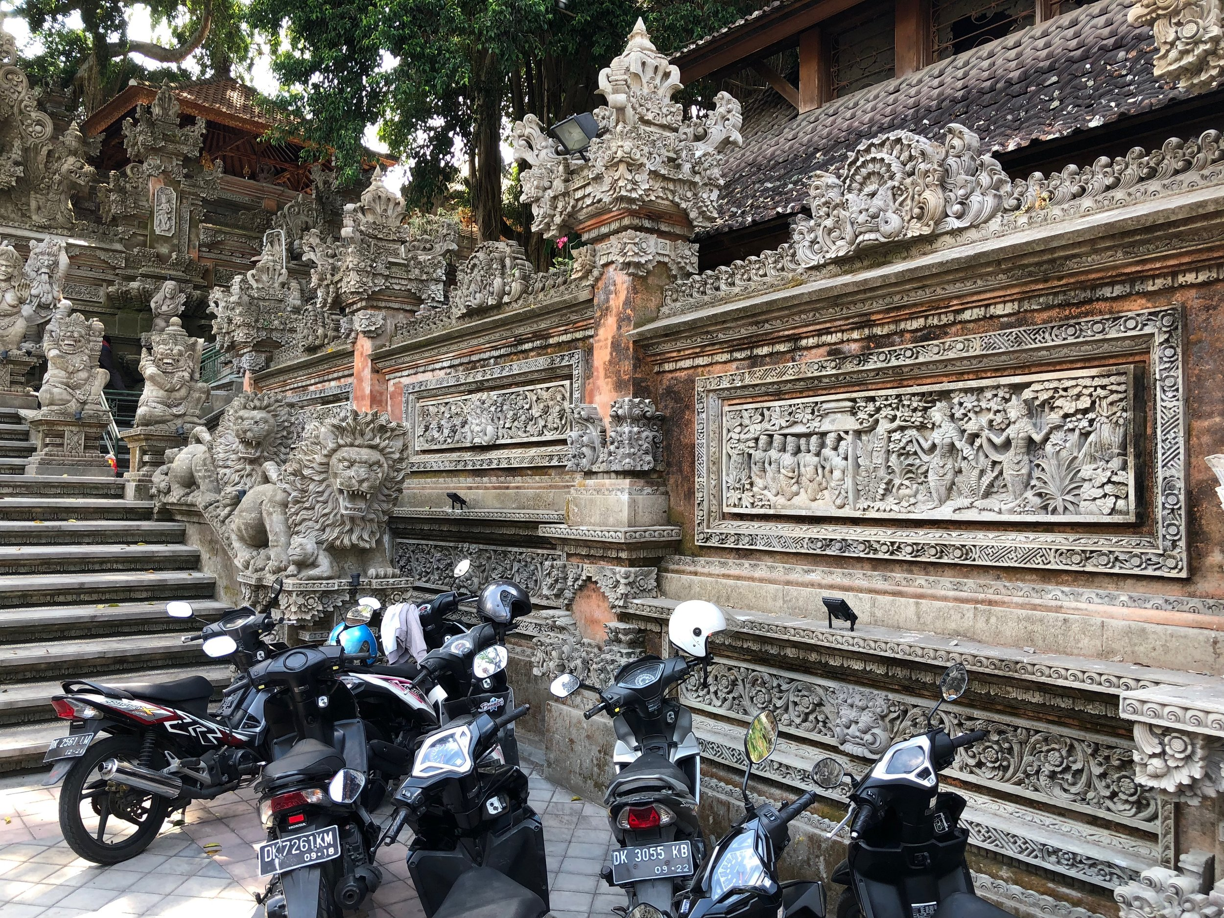 Motorbikes are ubiquitious on Bali