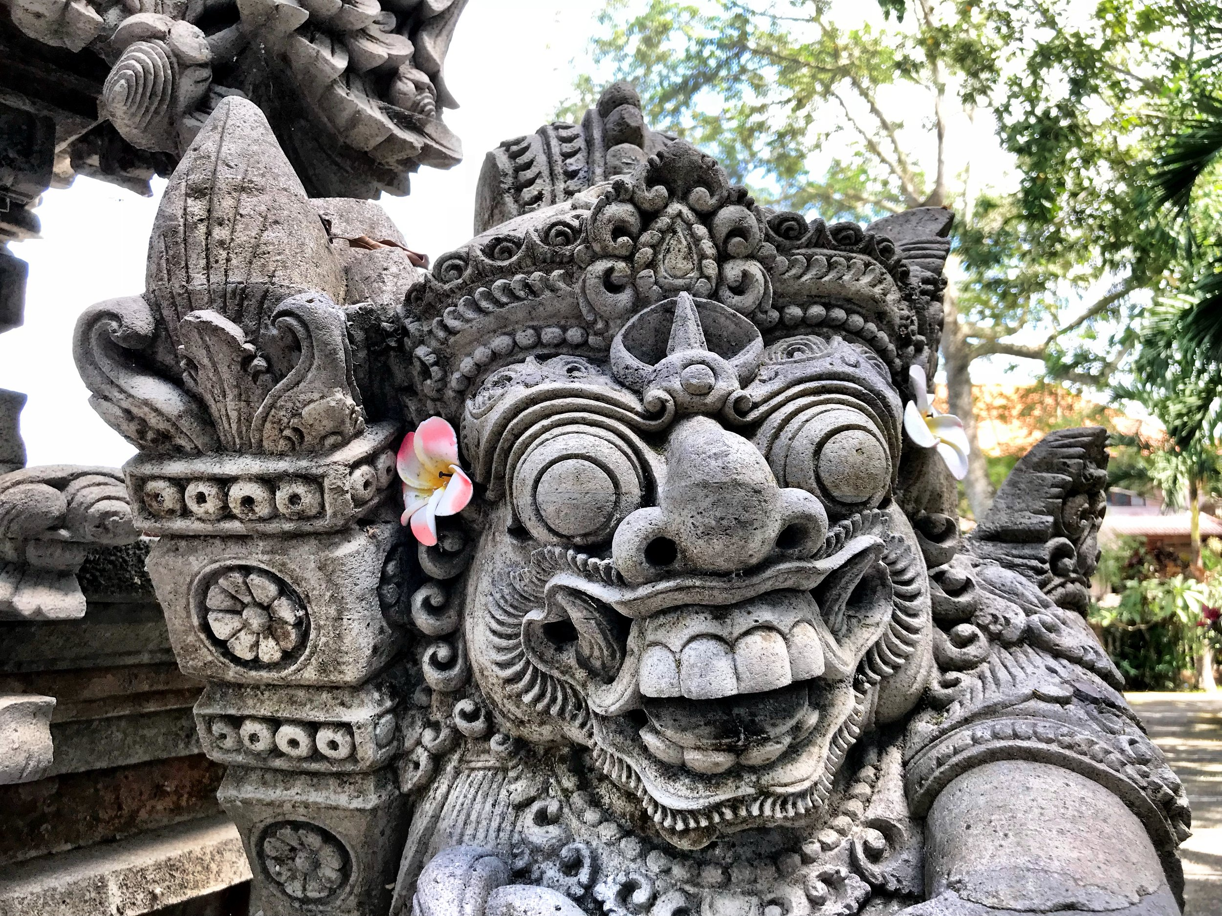 Many creatures in Balinese mythology — good and evil — have bulging bug eyes