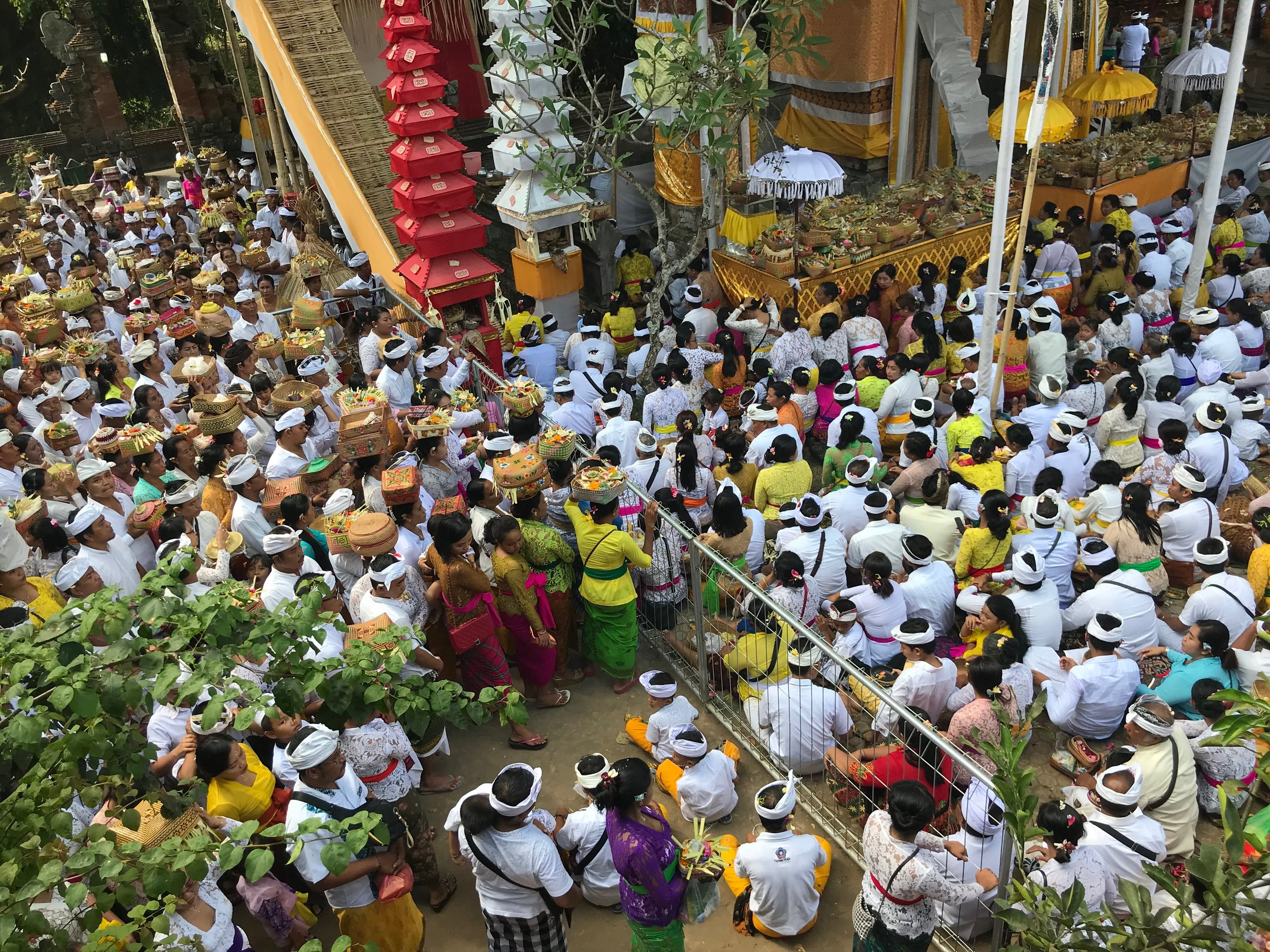 Pura Samuan Tiga, during the precursors to the Siat Sampian festival