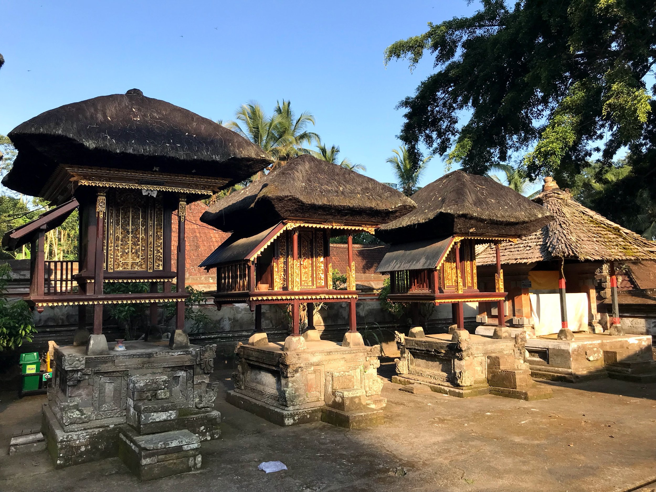 Smaller shrines on the temple complex are resting places for ancestral spirits during temple ceremonies