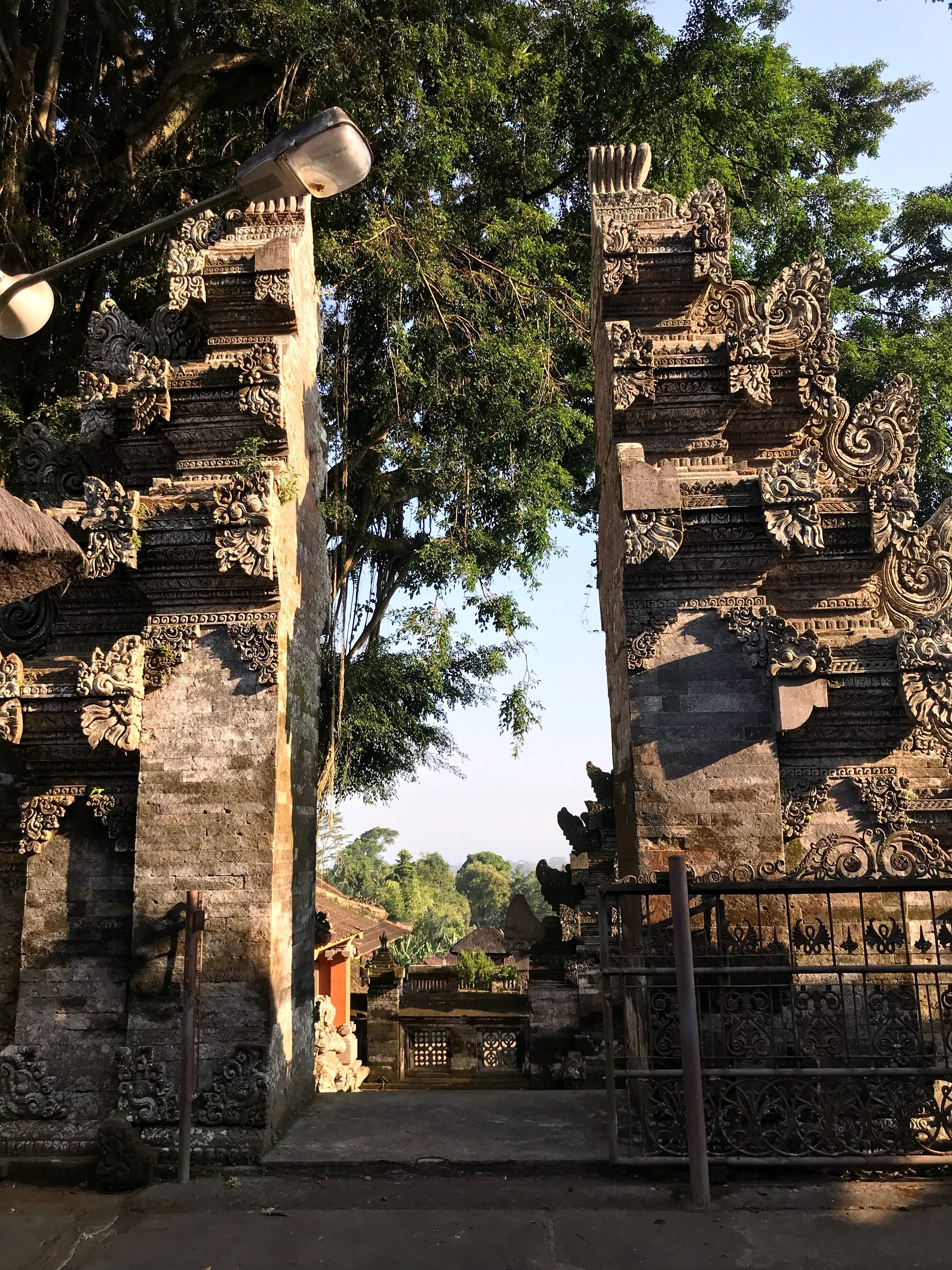 Candi bentars are dramatic features of many Balinese temples, and represent the split halves of Mount Meru