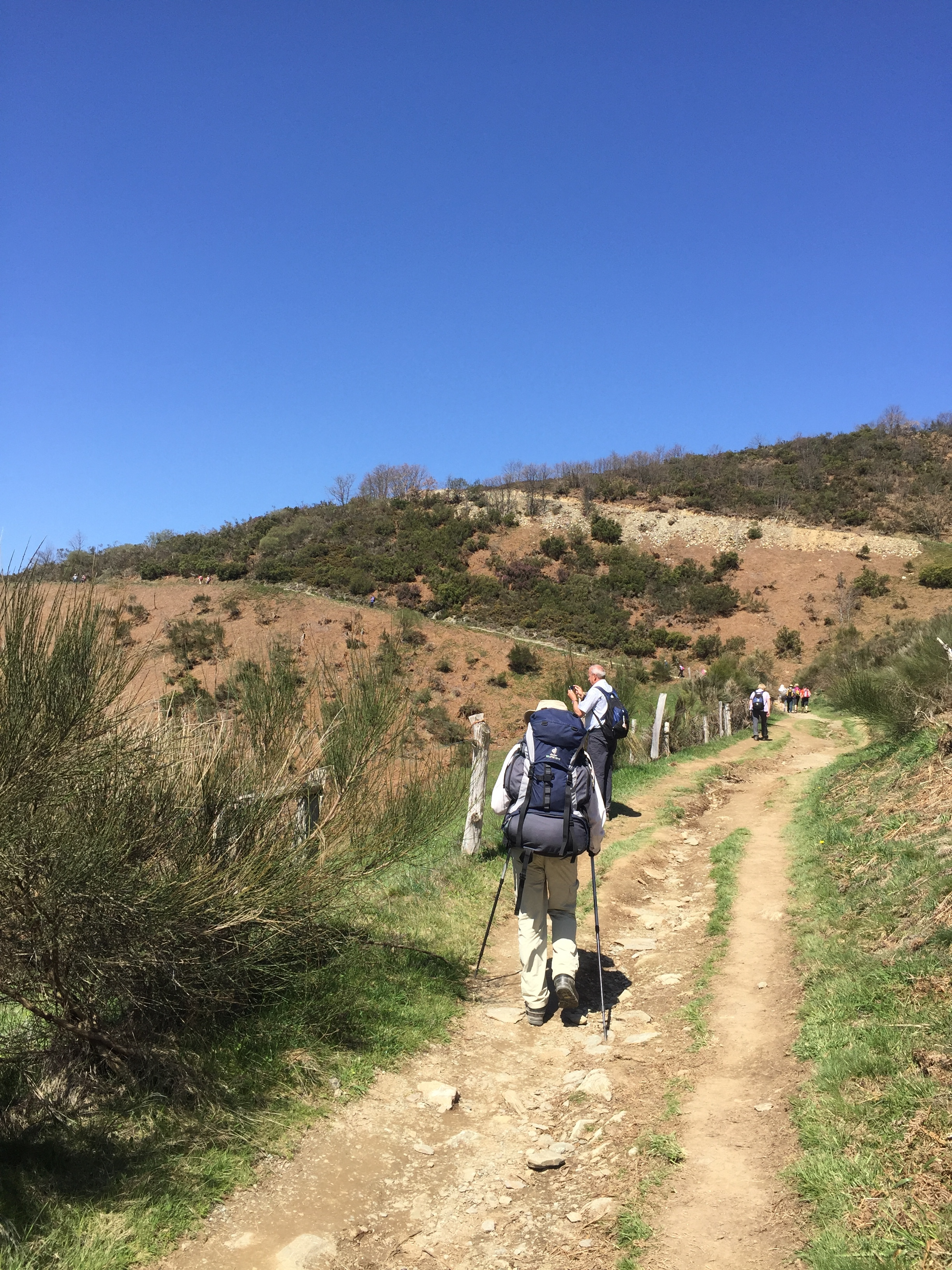 In the spring, the camino is less crowded than in the summer