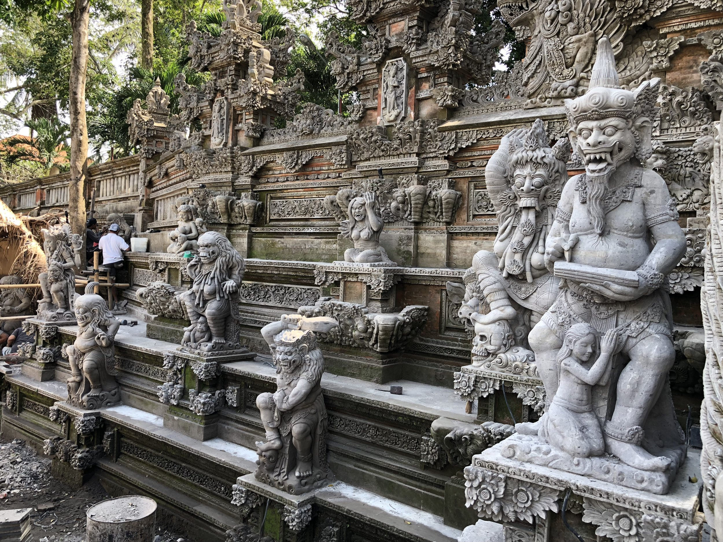 Temples of death on Bali feature frightening statues out front