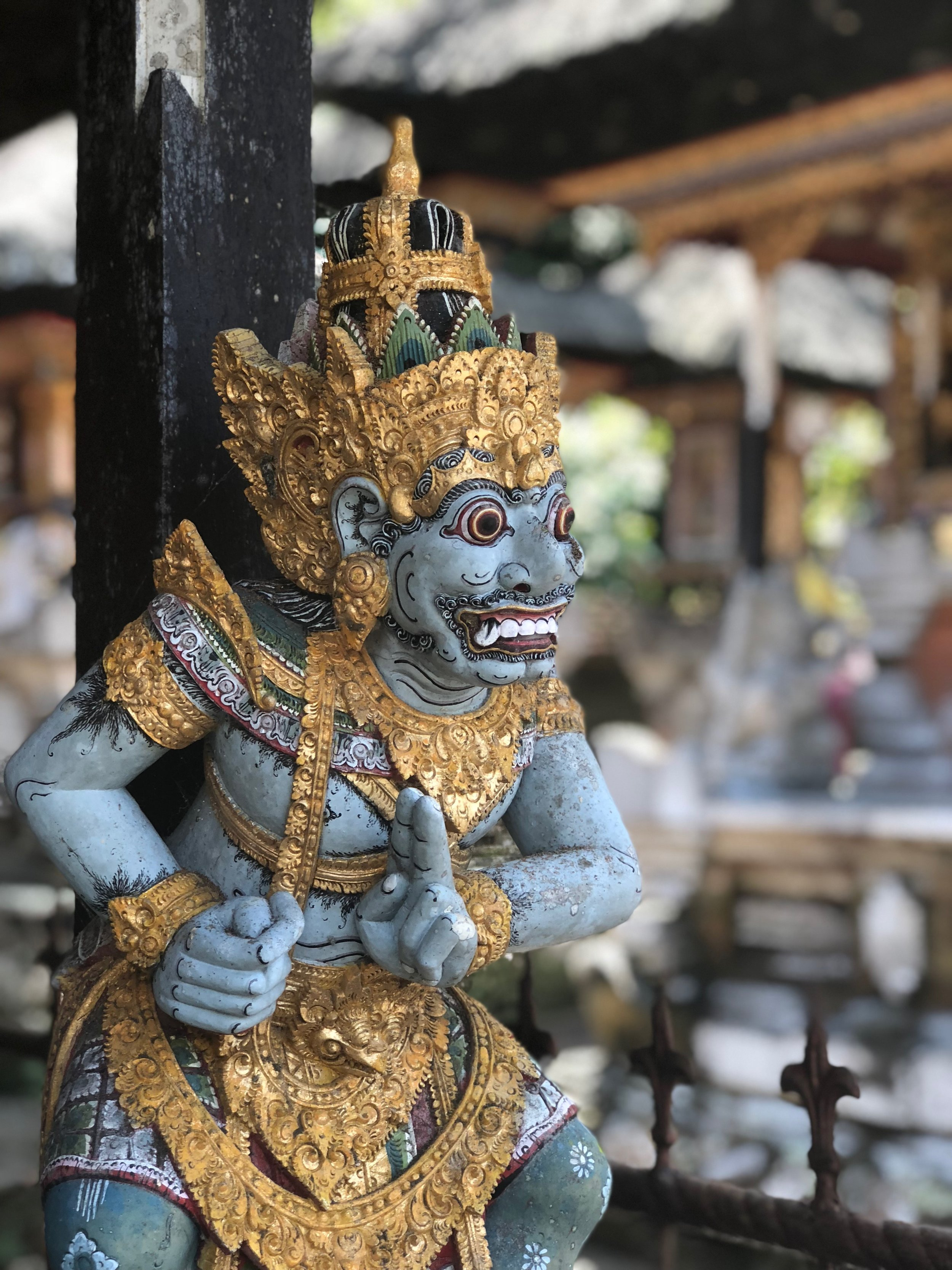 Most temples on Bali have statues of demons