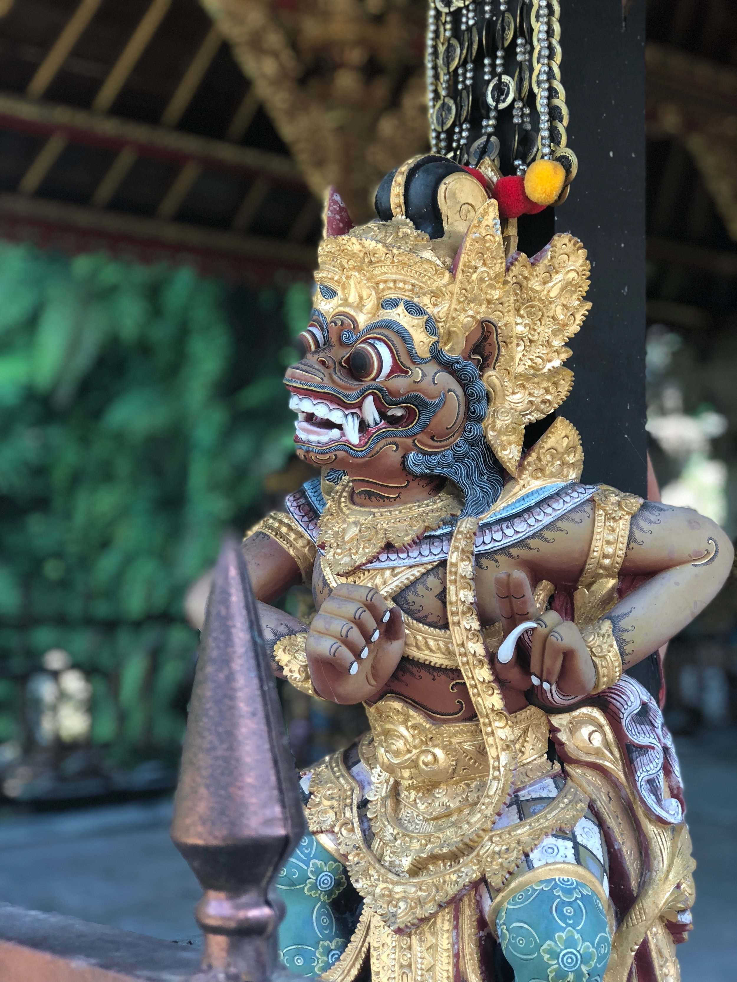 Statues act as guardian spirits