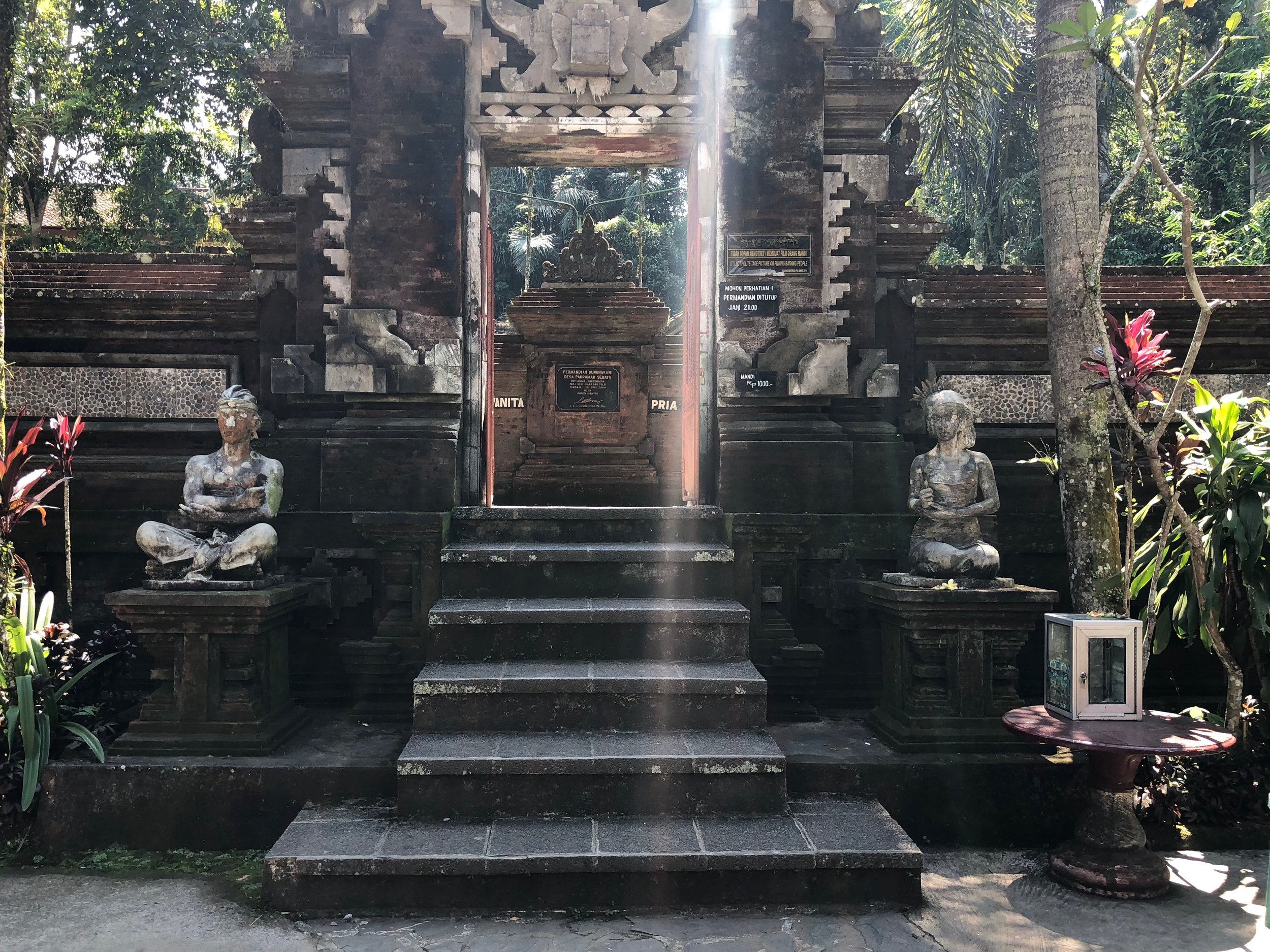 Before you cross the threshold of this sacred space, make sure you're wearing a sarong