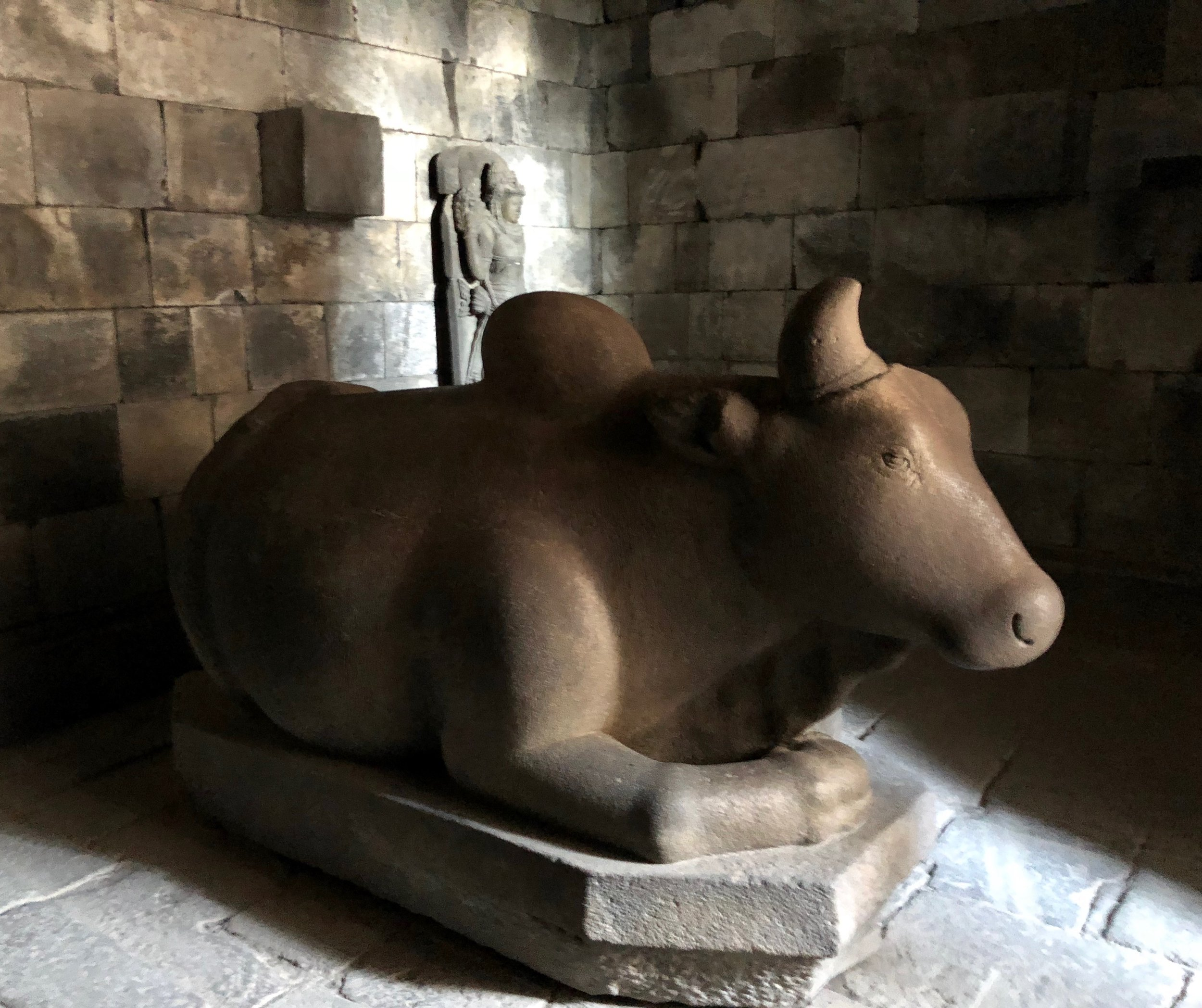 Nandi the Bull carried around the god Shiva