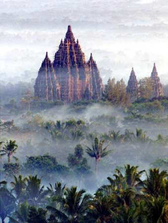 The temples of Prambanan on Java in Indonesia are the setting of a legend involving demons and a princess trapped in stone