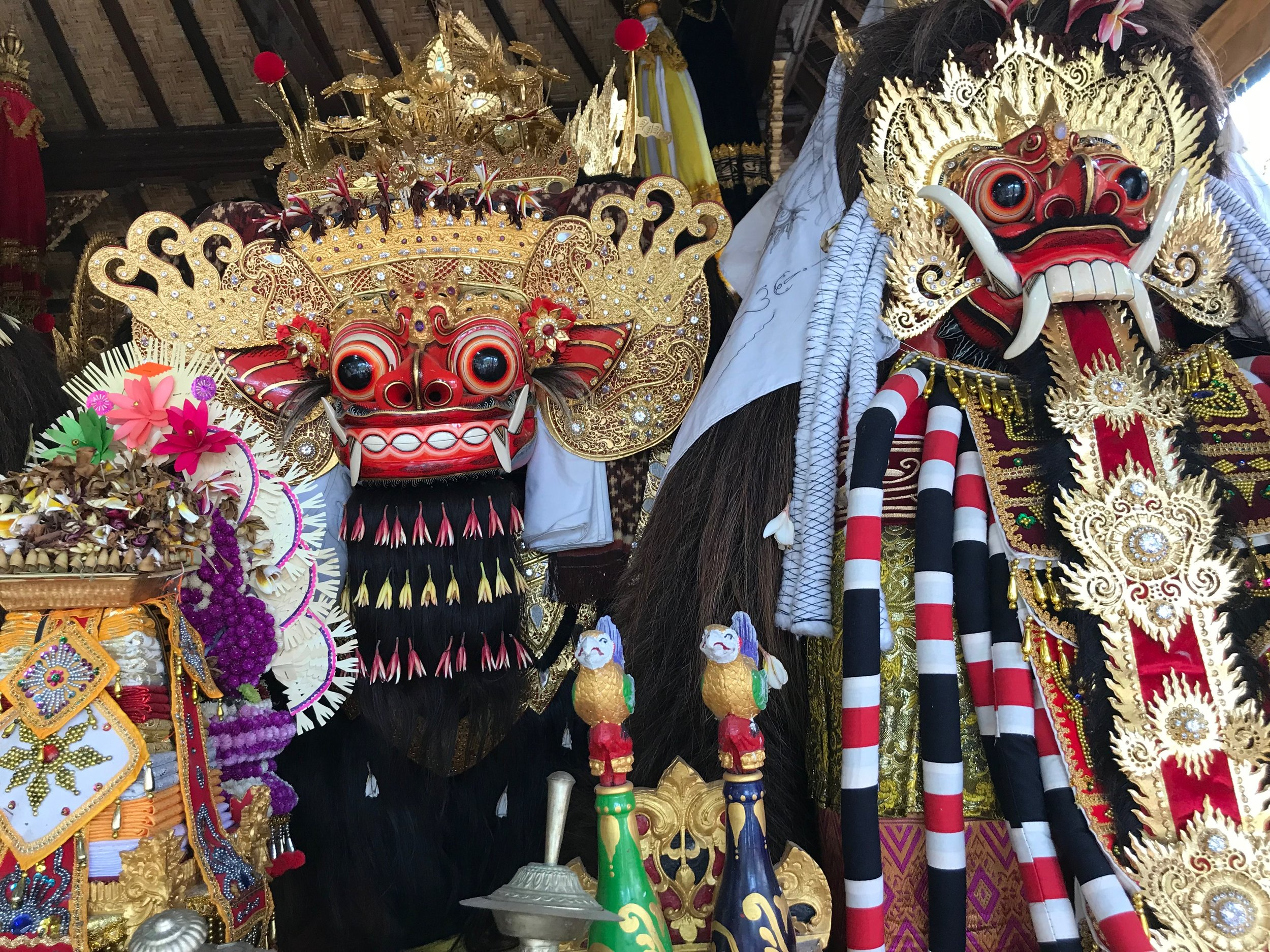 The mythical creature Barong represents all that is good in the world
