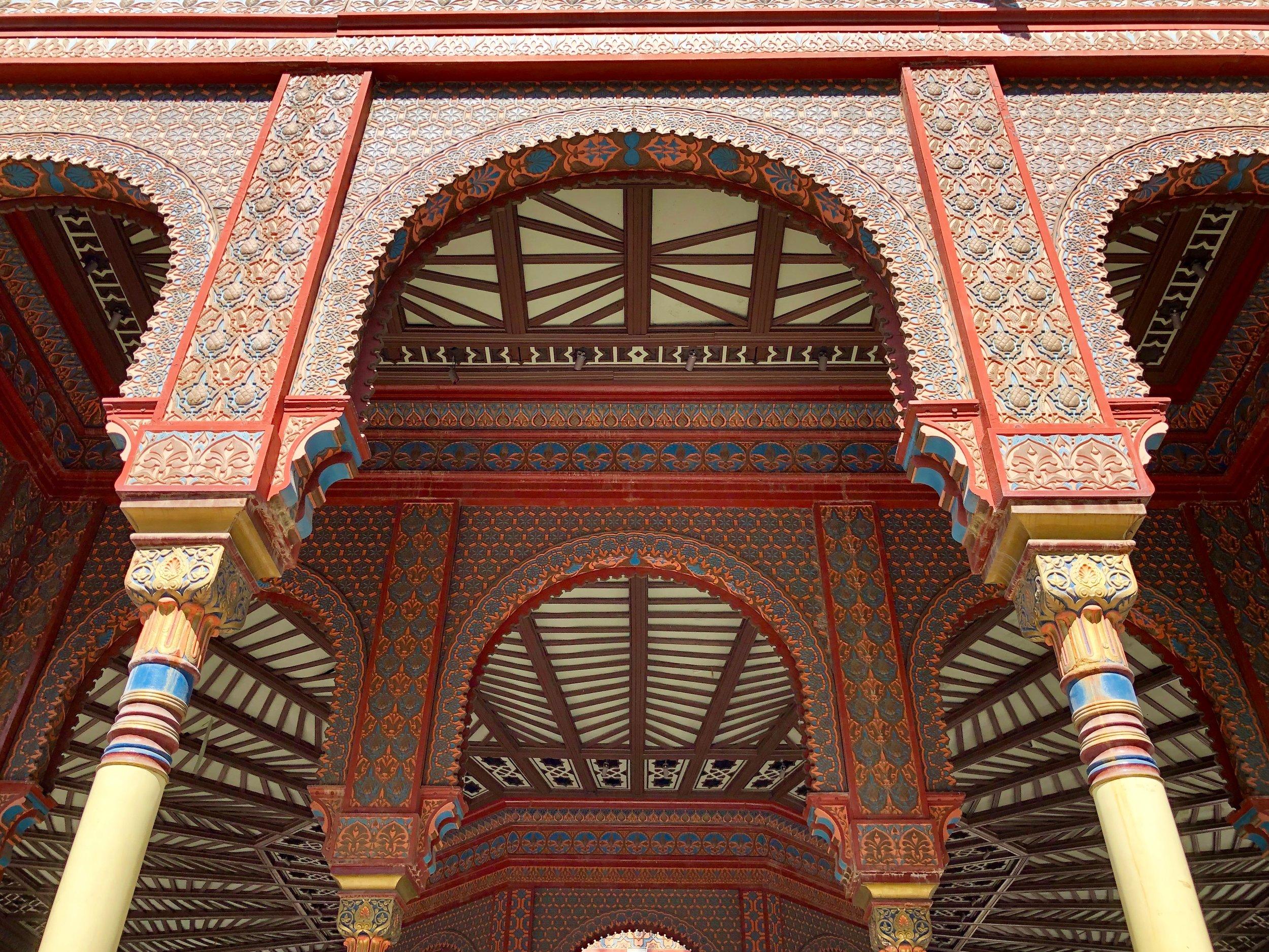 The style is Mudéjar, a mix of Spanish and Moorish architecture