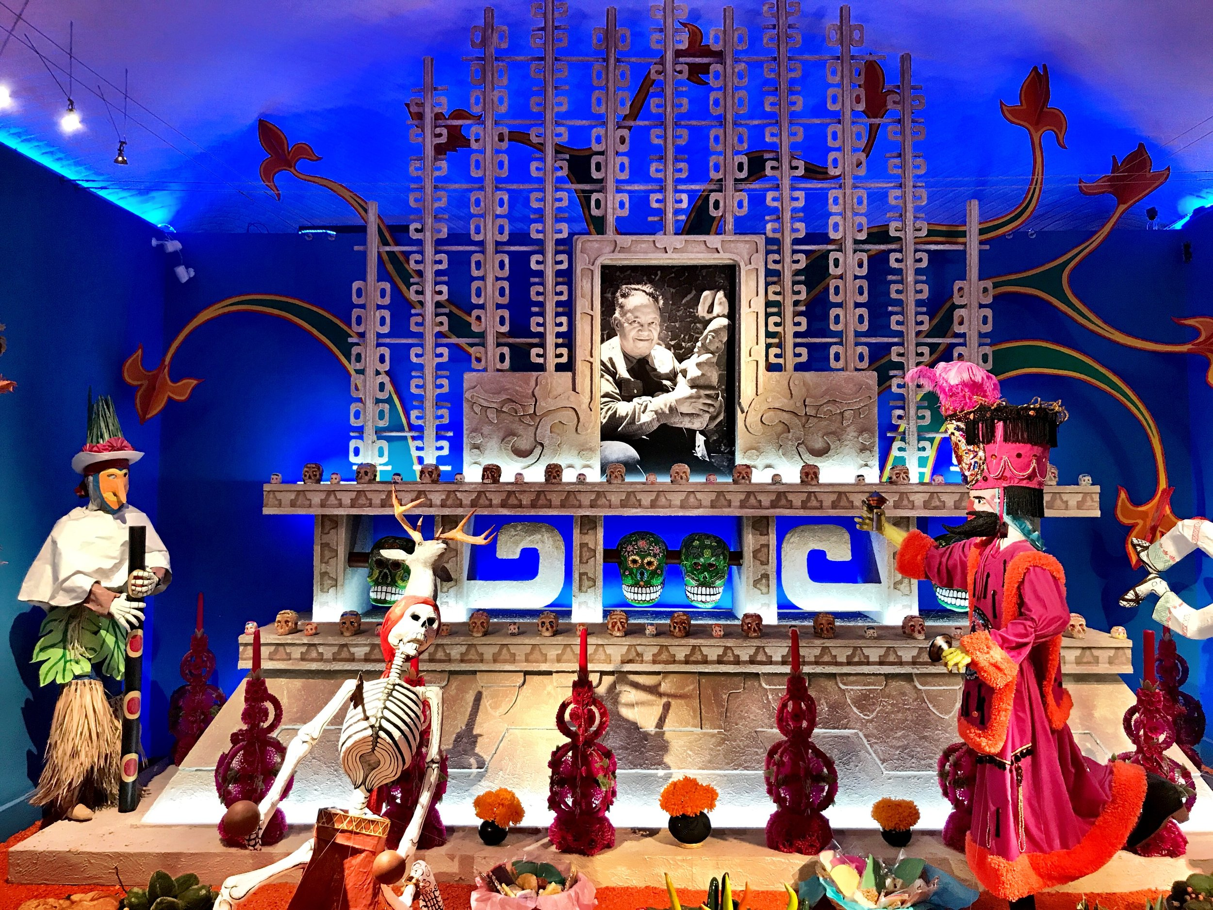 An ofrenda to Rivera concludes  The World of the Dead  exhibit