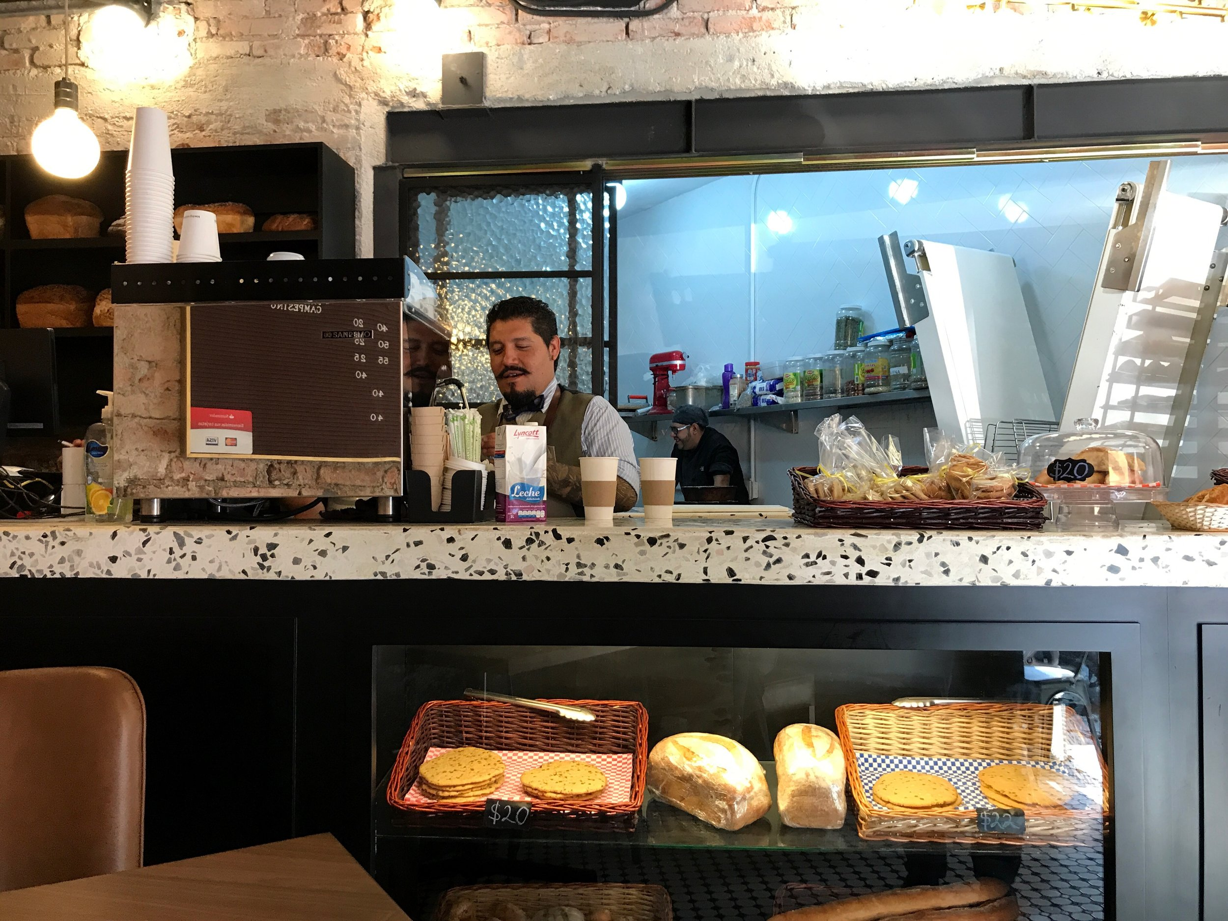 Grab a coffee and snack at Panadería Pública