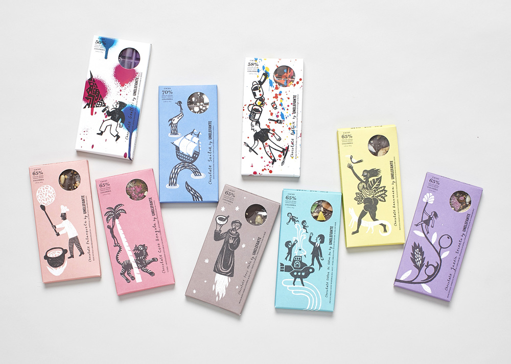 Masiques' whimsical work has appeared on a line of chocolate bars
