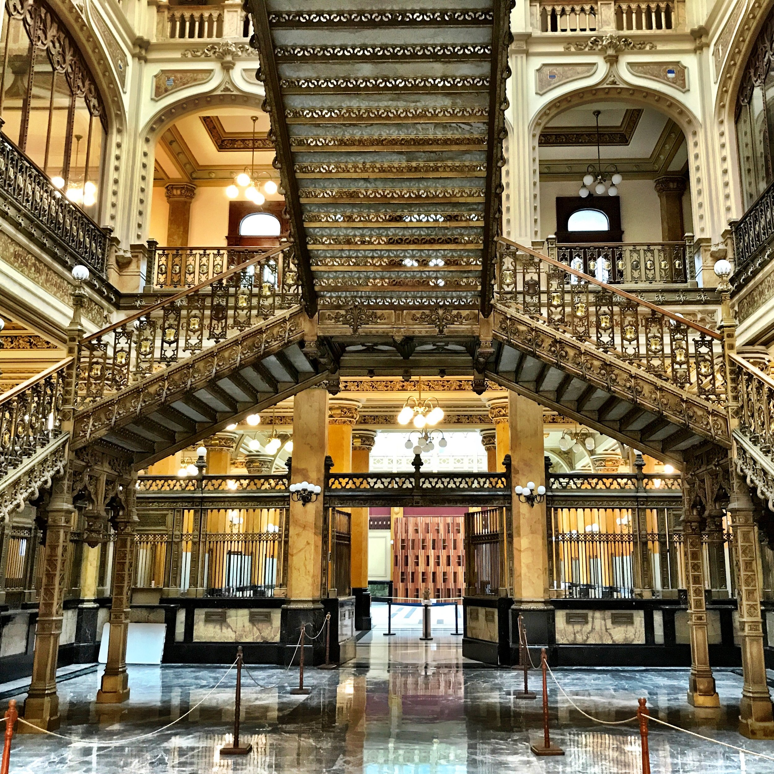 Since you're in the area, you should pop into the Palacio Postal just to check out the amazing staircase