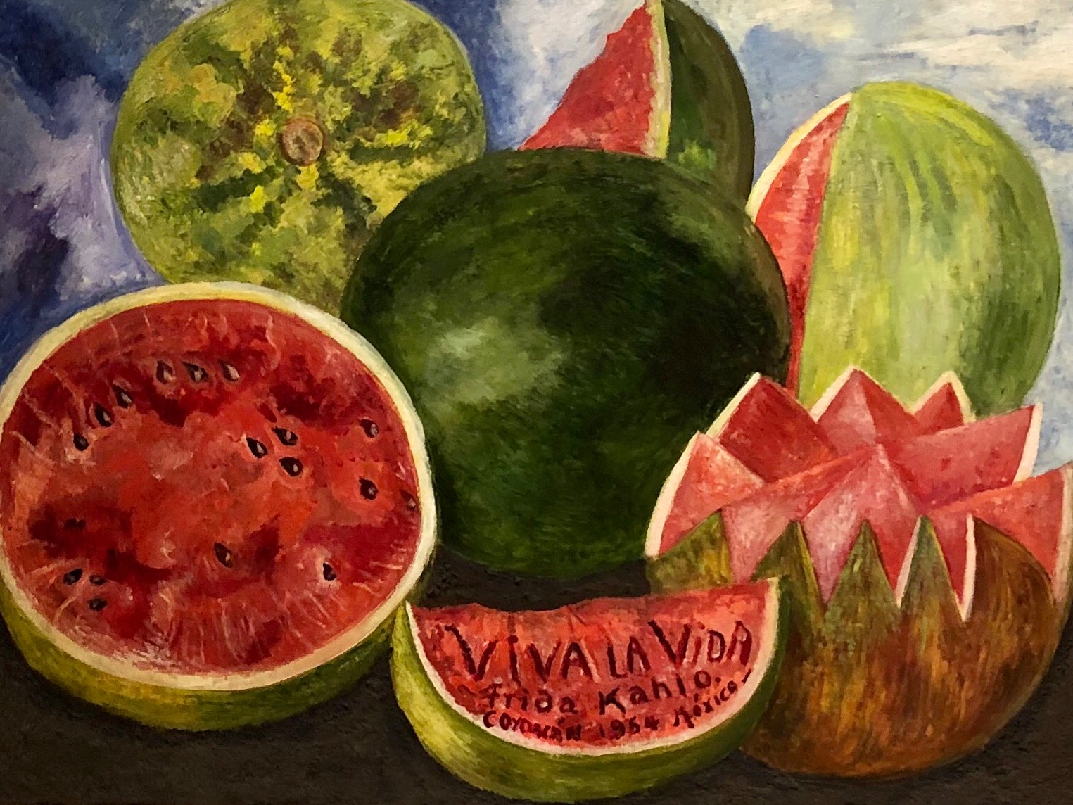 Viva la Vida  by Frida Kahlo, 1954 — the last of her paintings she signed