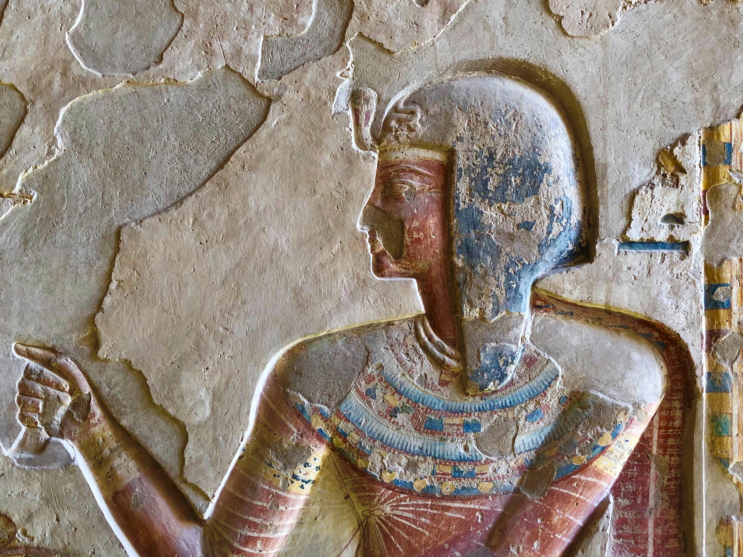 The bas-reliefs in the tombs are amazing, and many retain their original paint