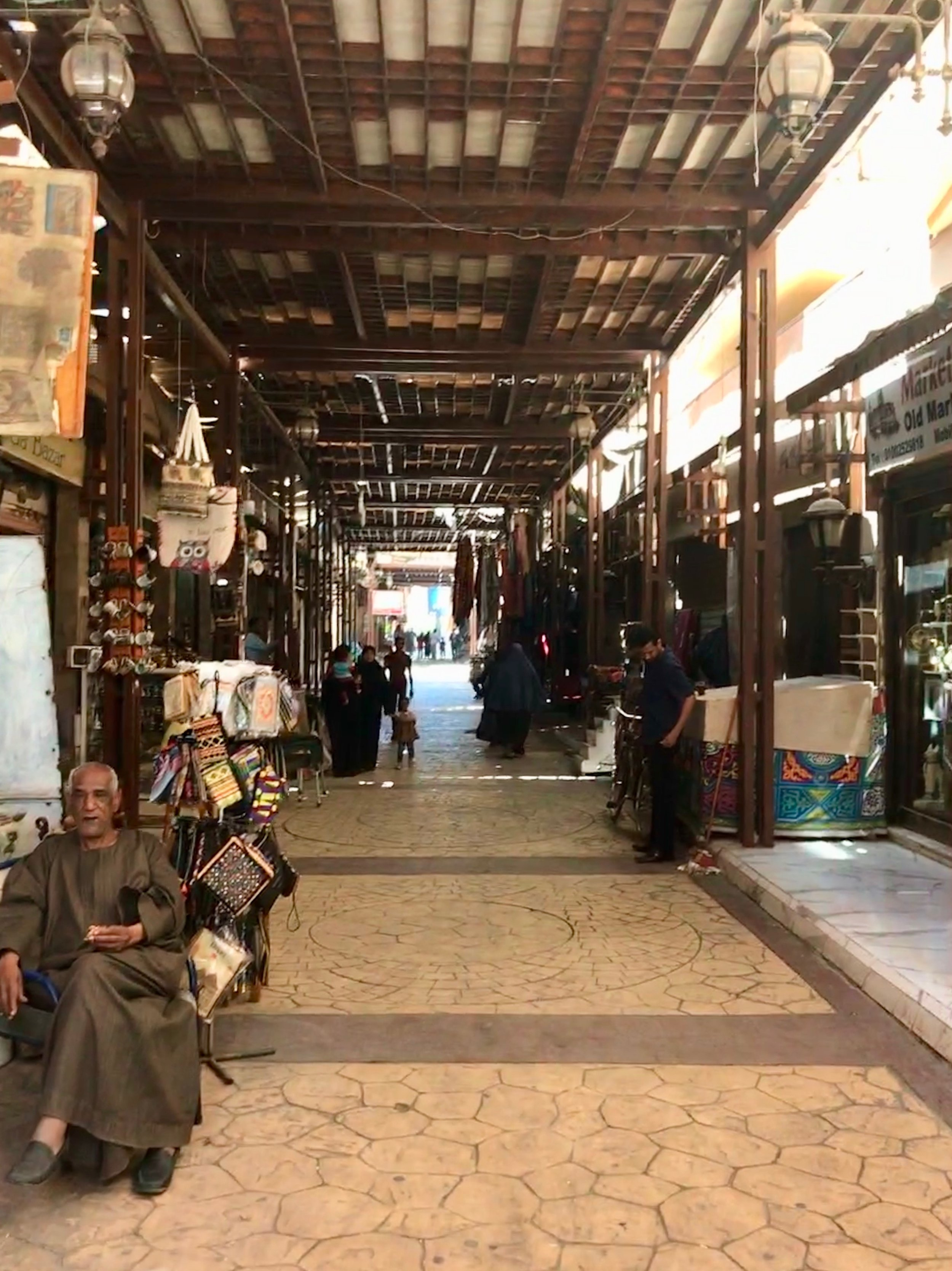 A good portion of stalls are shut on Sunday at the Luxor Souk, since the Coptic Christians are at church