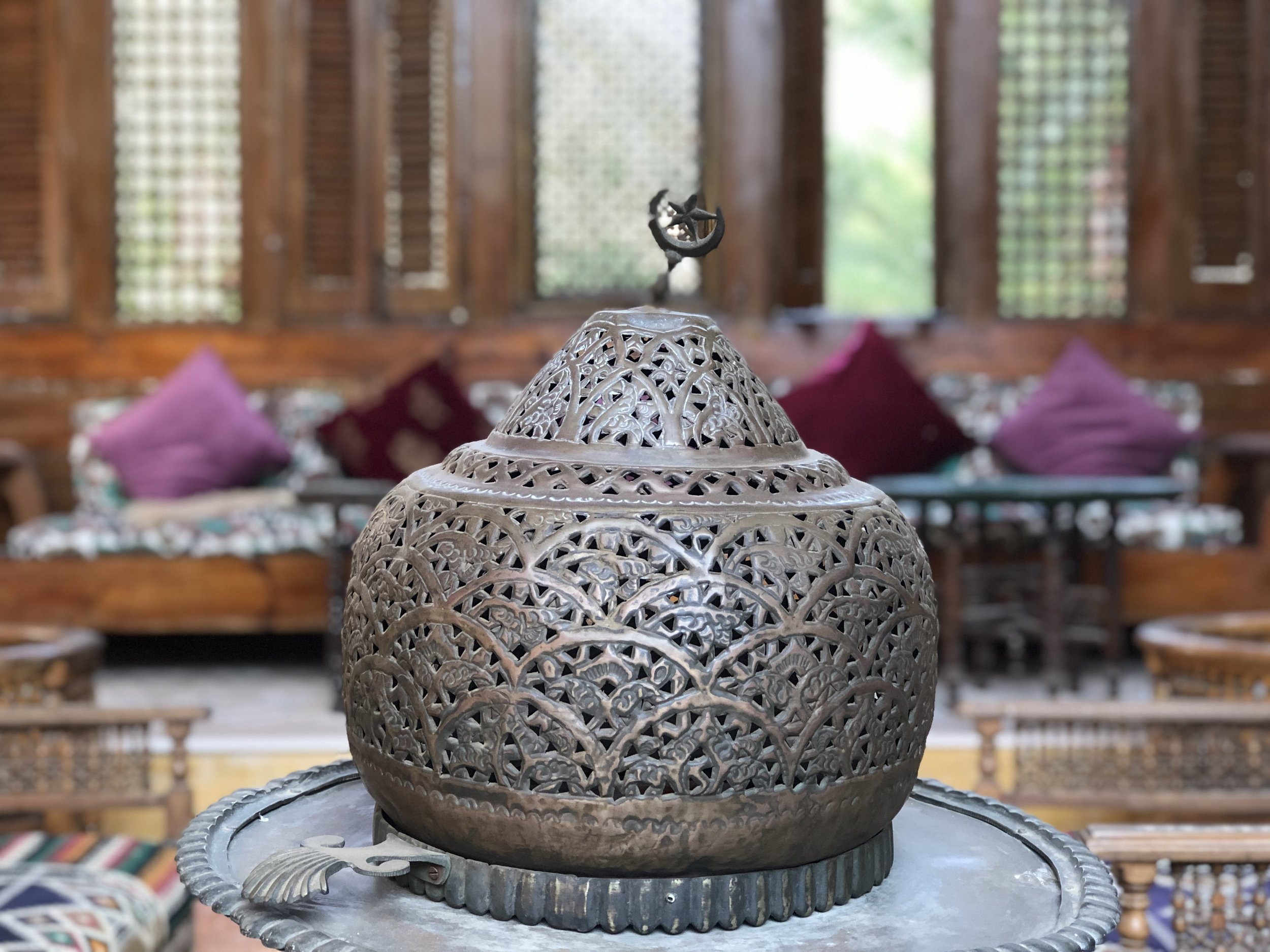 The beautiful objects found throughout the hotel have been collected by Zeina, the owner