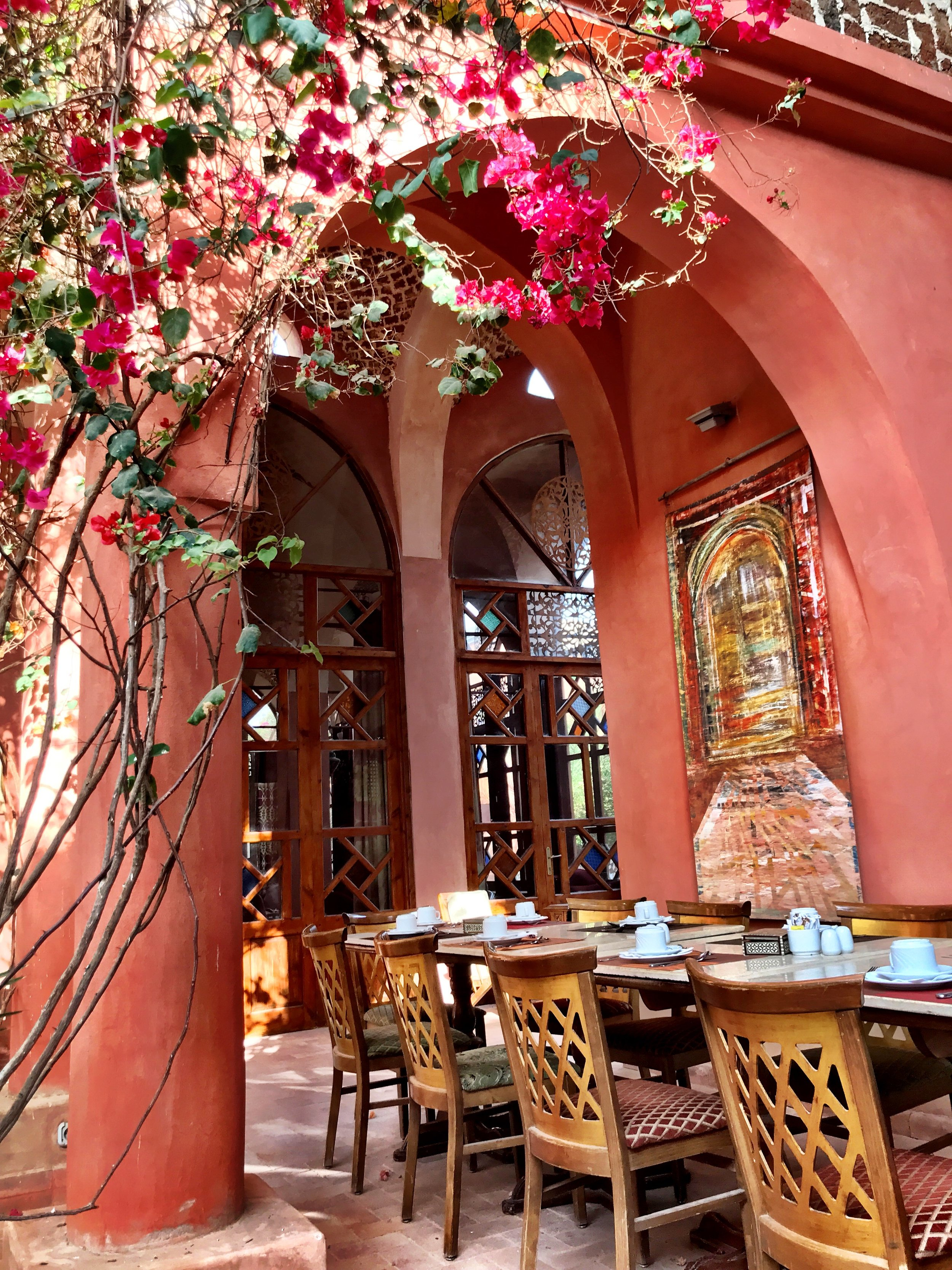 The central courtyard is where most guests have breakfast and dinner