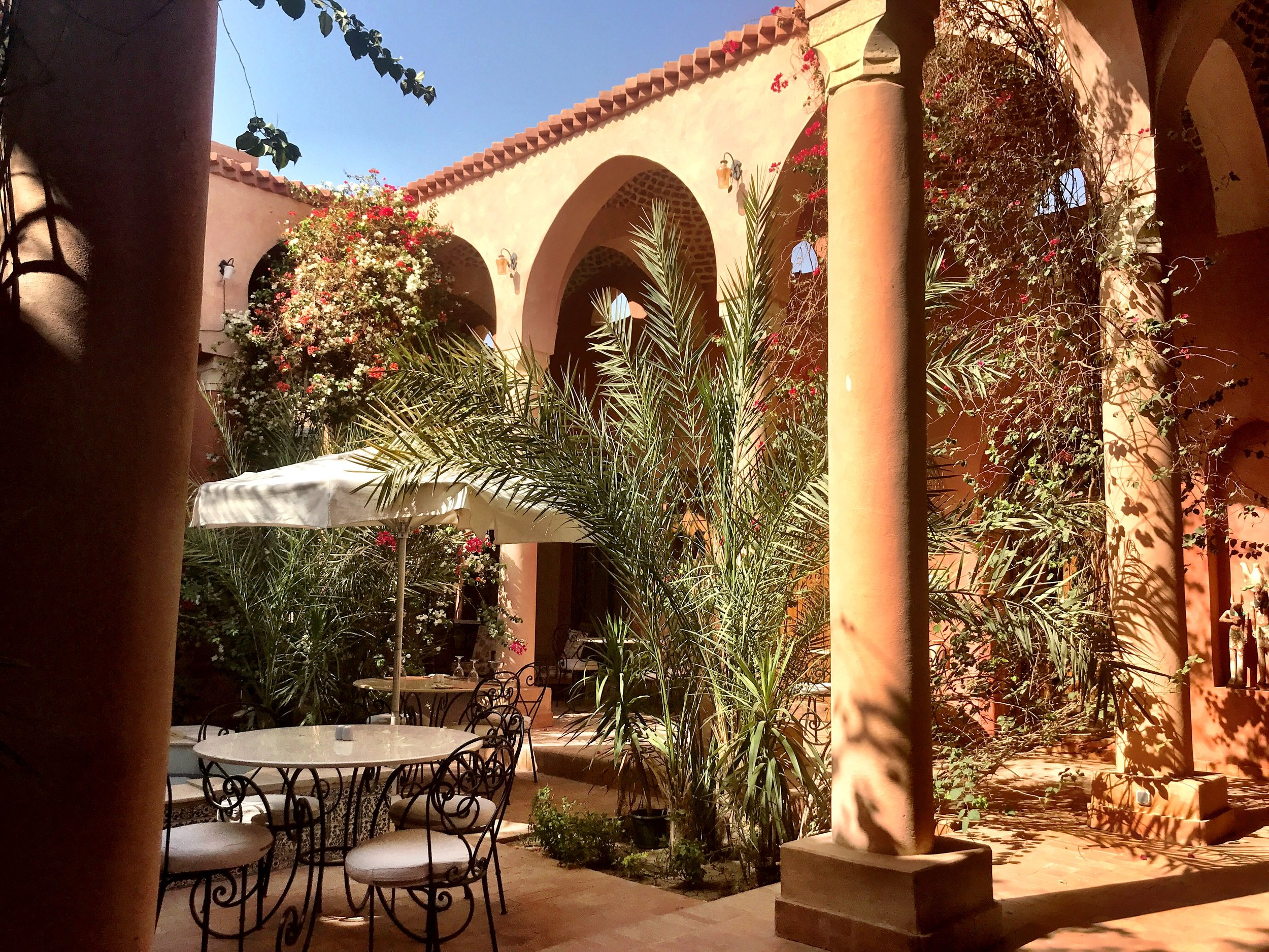 Lush plants, soothing earth tones, arches and cupolas are all part of the relaxing aesthetic at Al Moudira